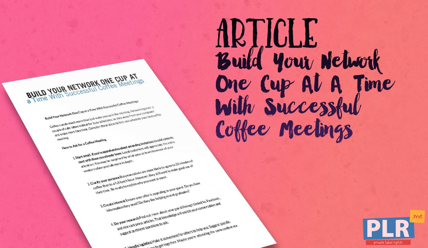 Build Your Network One Cup At A Time With Successful Coffee Meetings