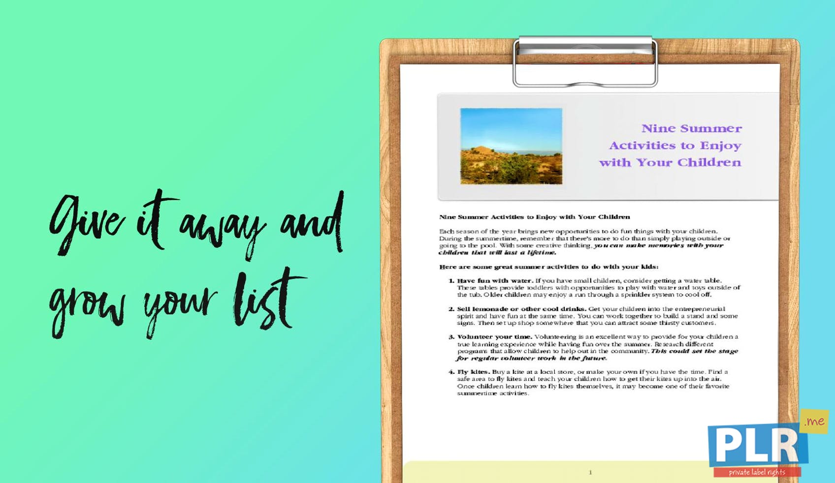 Plr Articles Blog Posts Nine Summer Activities To Enjoy With