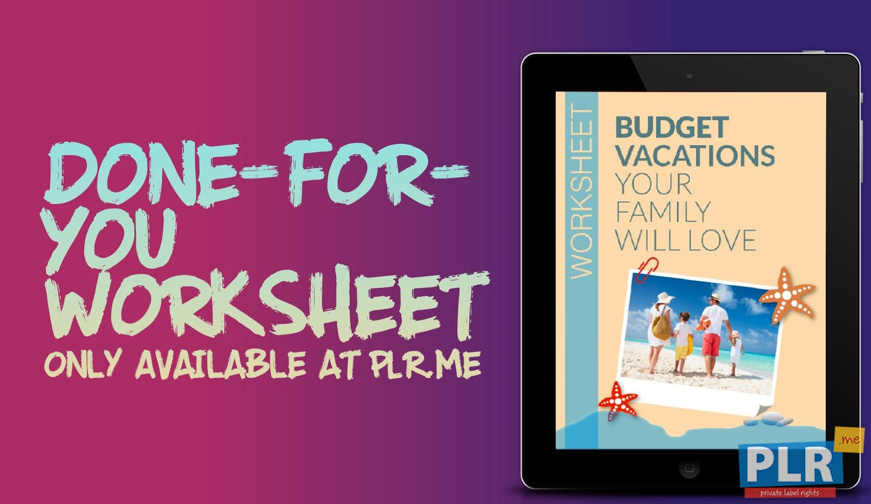 Budget Vacations Your Family Will Love Worksheet