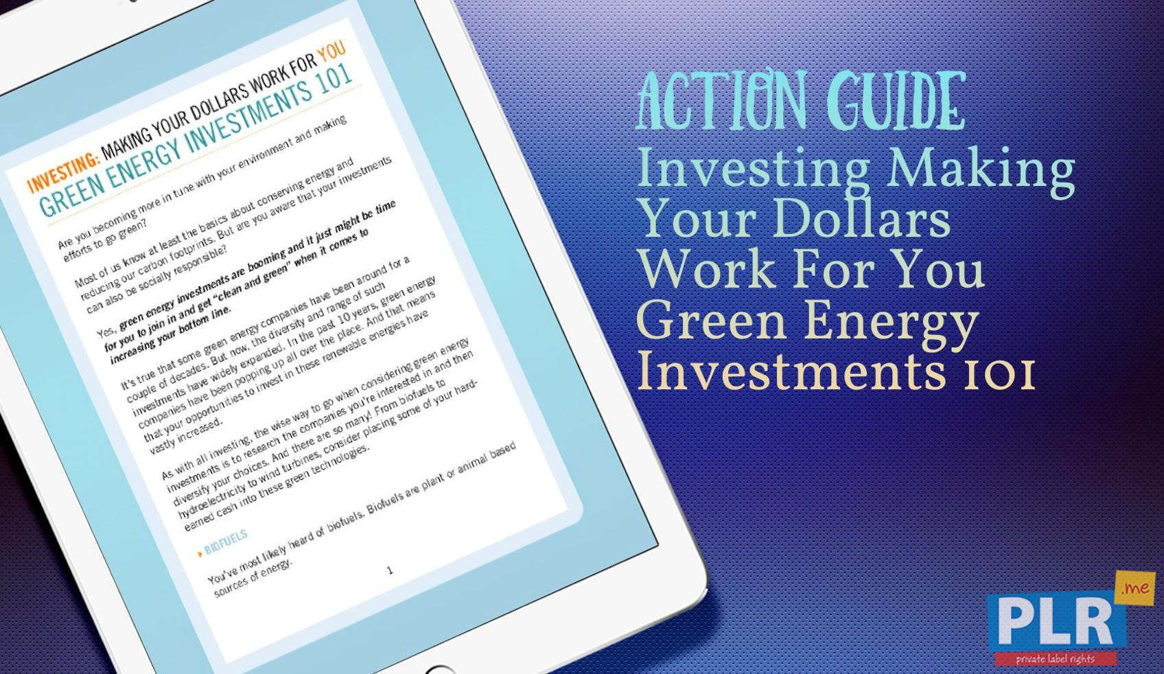 Investing Making Your Dollars Work For You Green Energy Investments 101