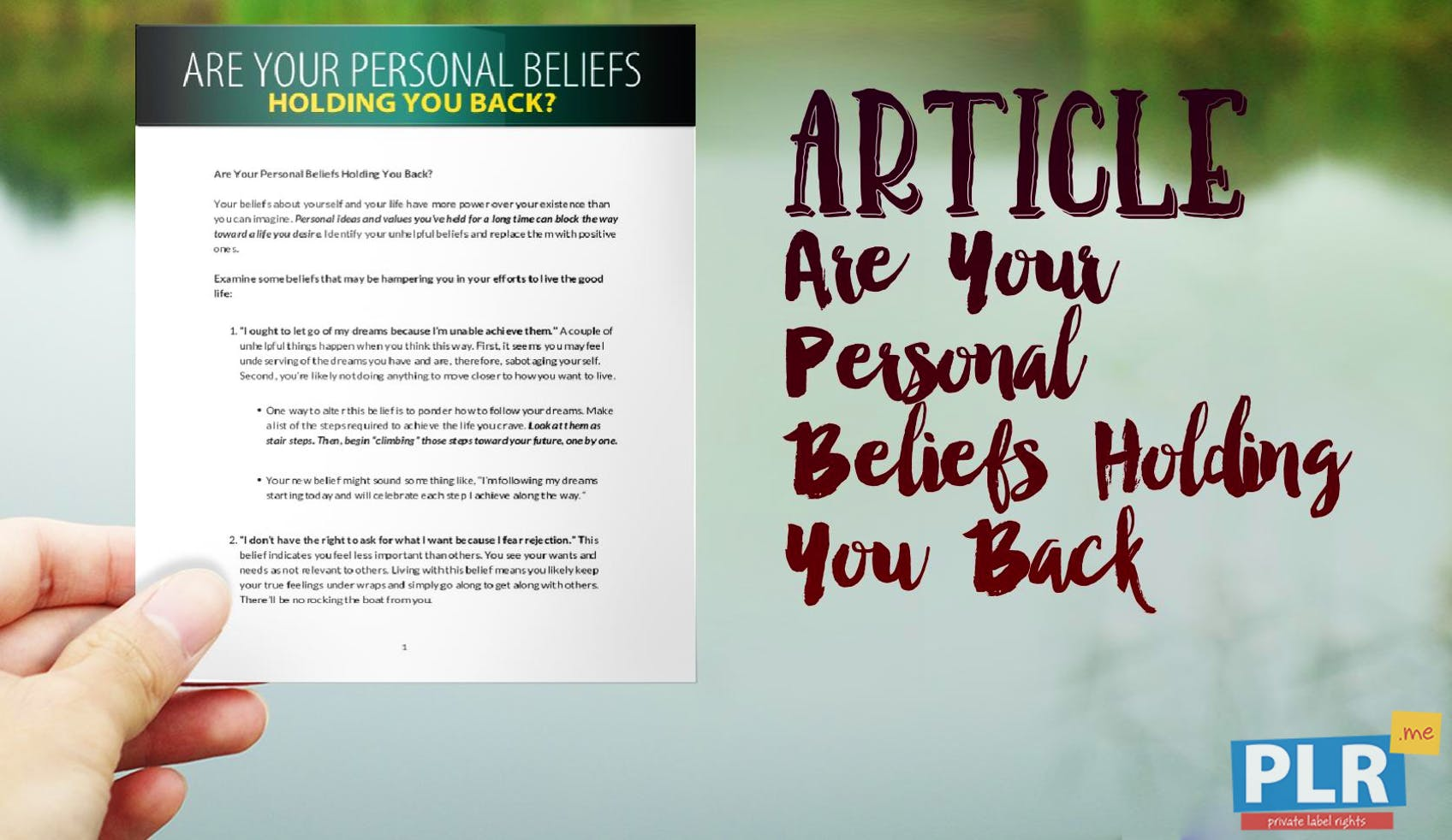 Are Your Personal Beliefs Holding You Back