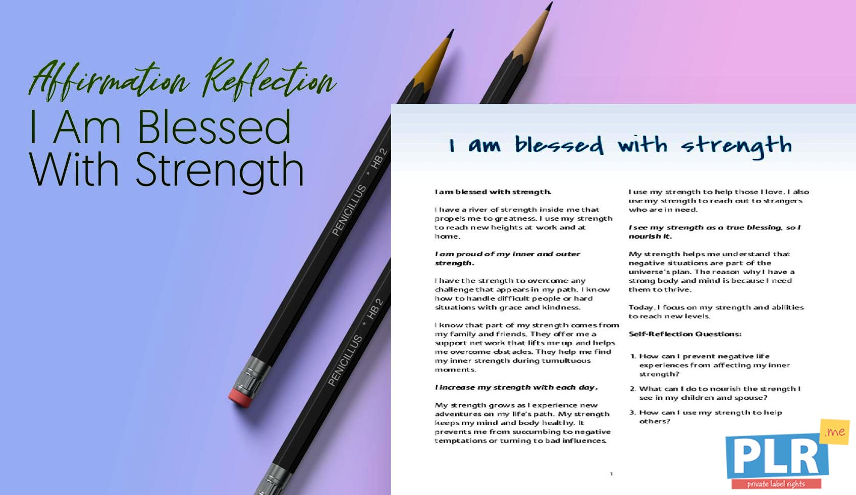 I Am Blessed With Strength