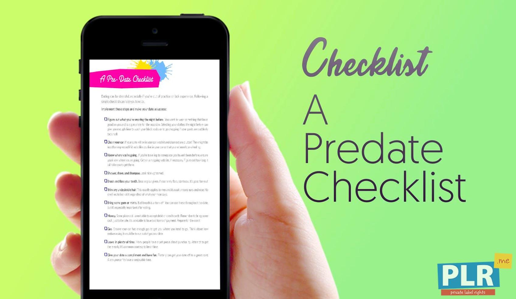 A Predate Checklist