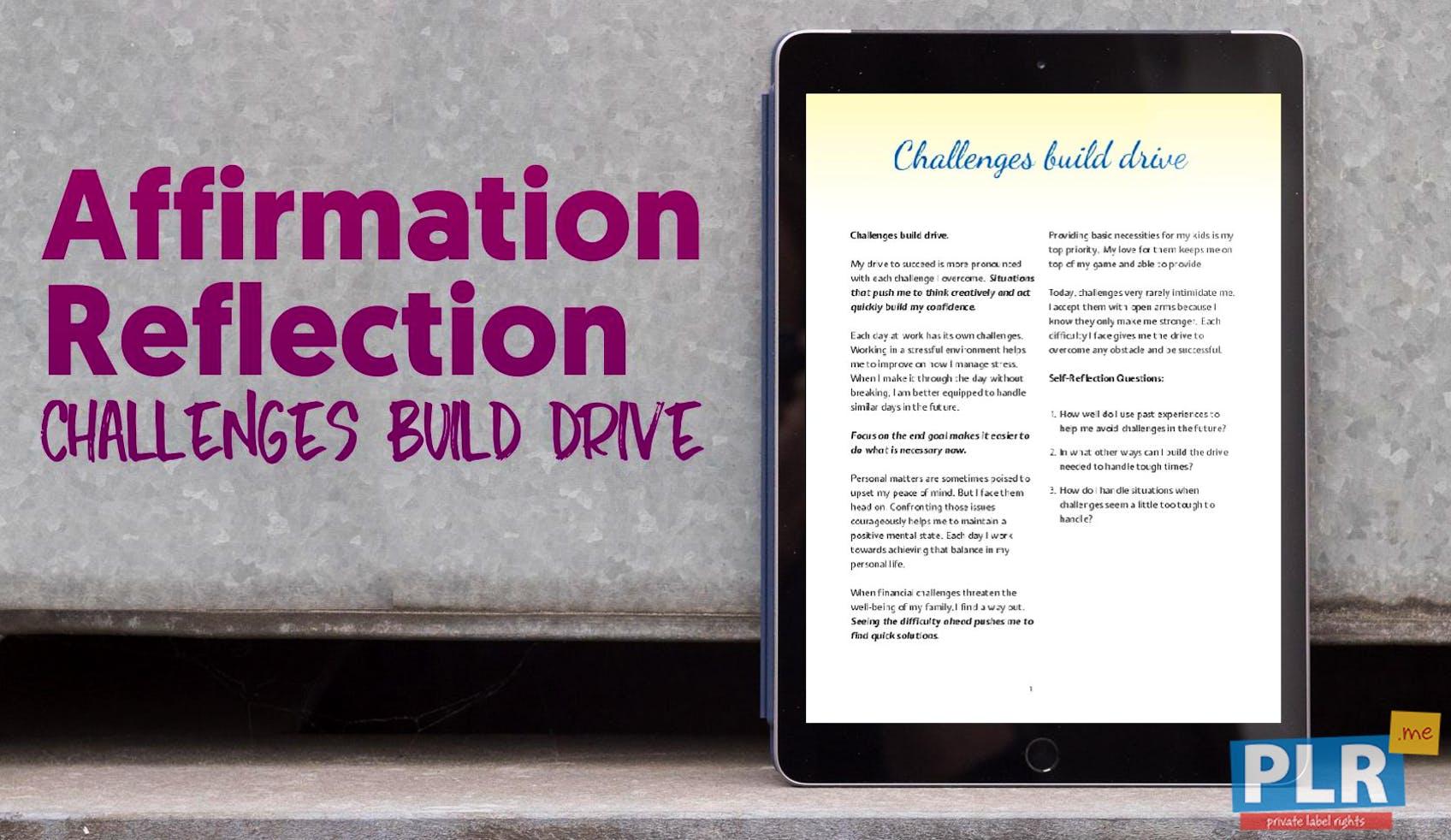 Challenges Build Drive