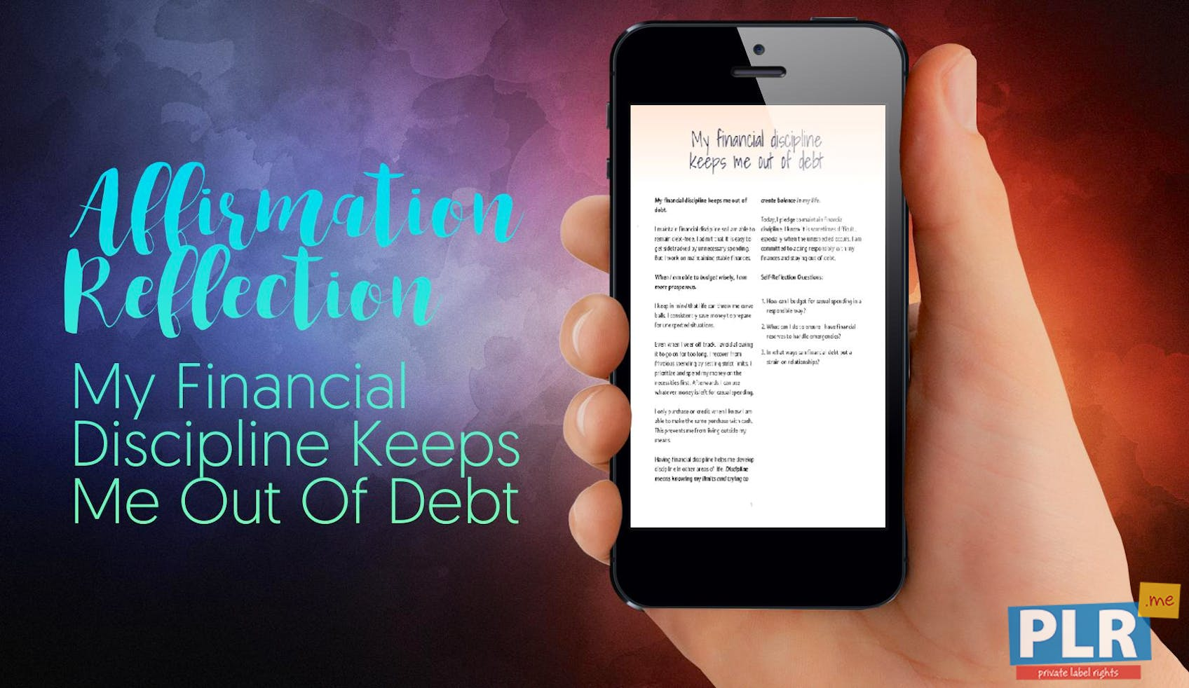 My Financial Discipline Keeps Me Out Of Debt