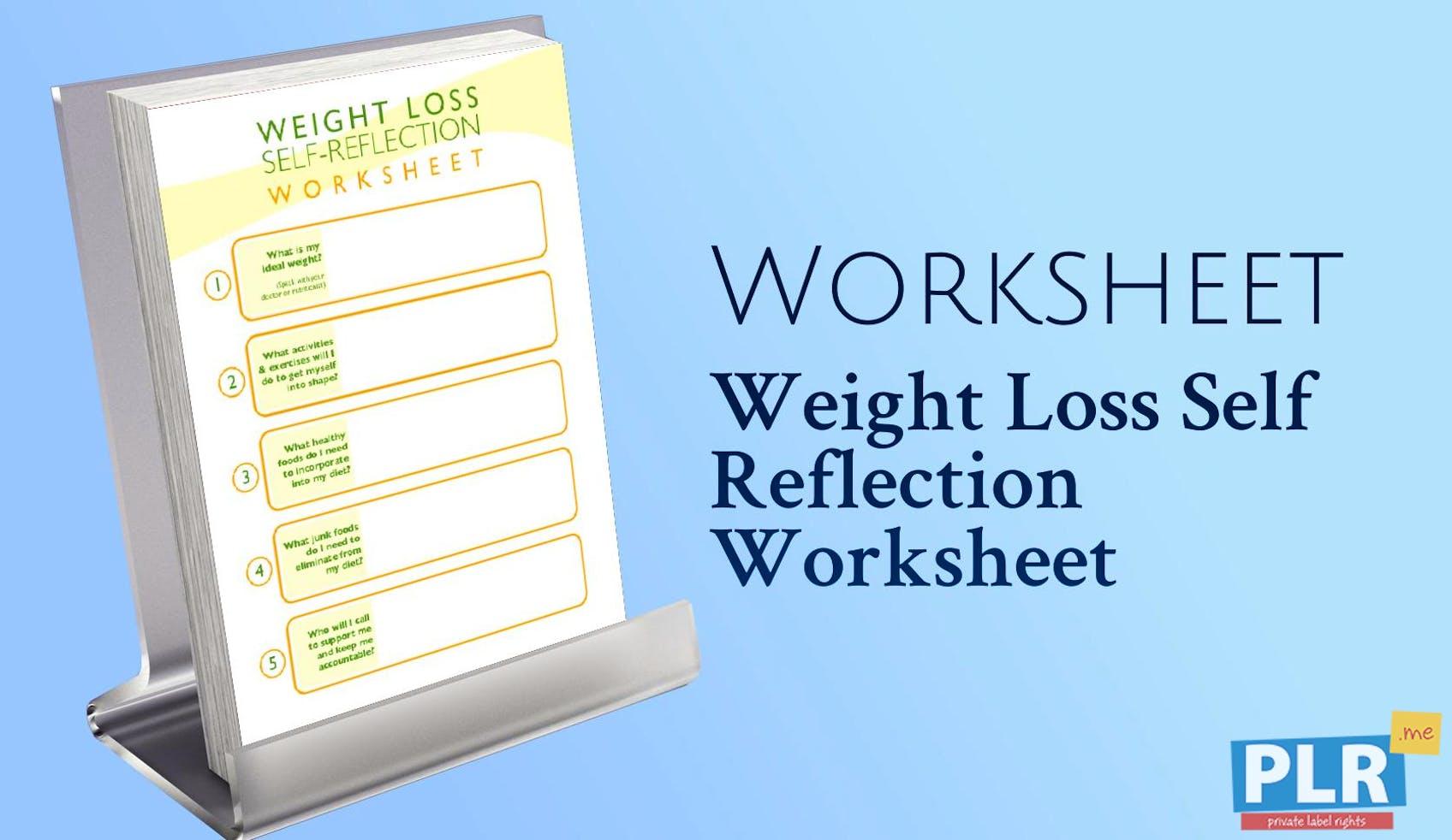 plr worksheets weight loss self reflection worksheet plr me