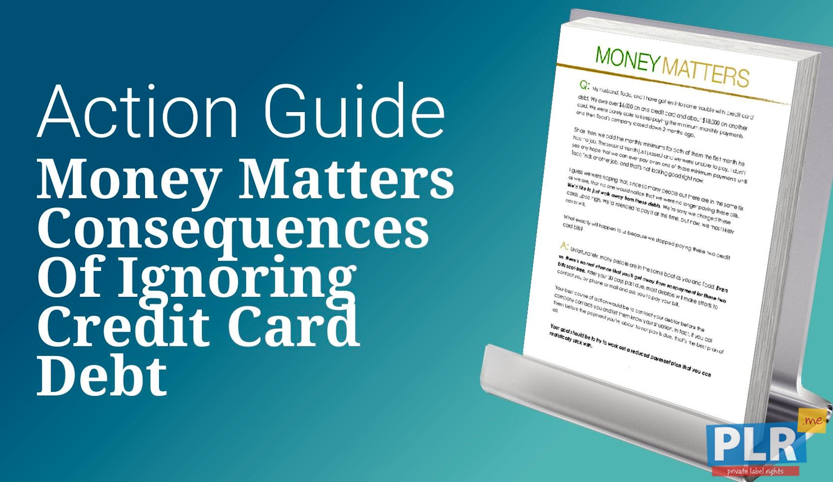 Money Matters Consequences Of Ignoring Credit Card Debt