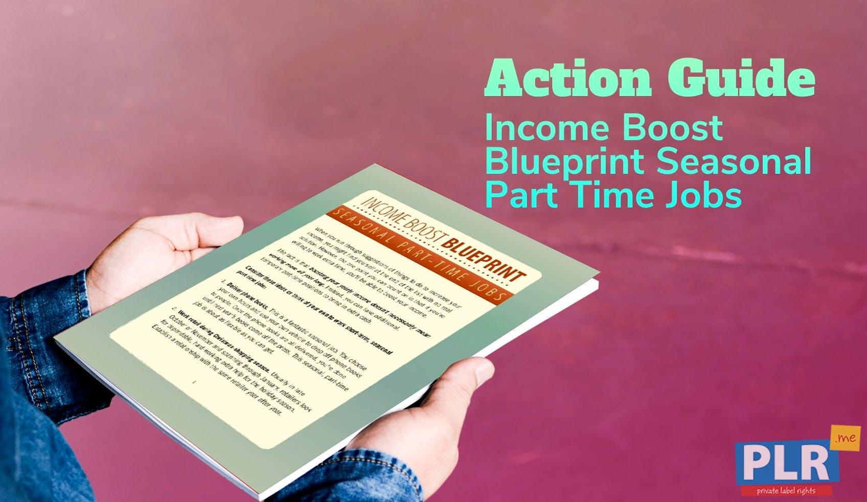 Income Boost Blueprint Seasonal Part Time Jobs