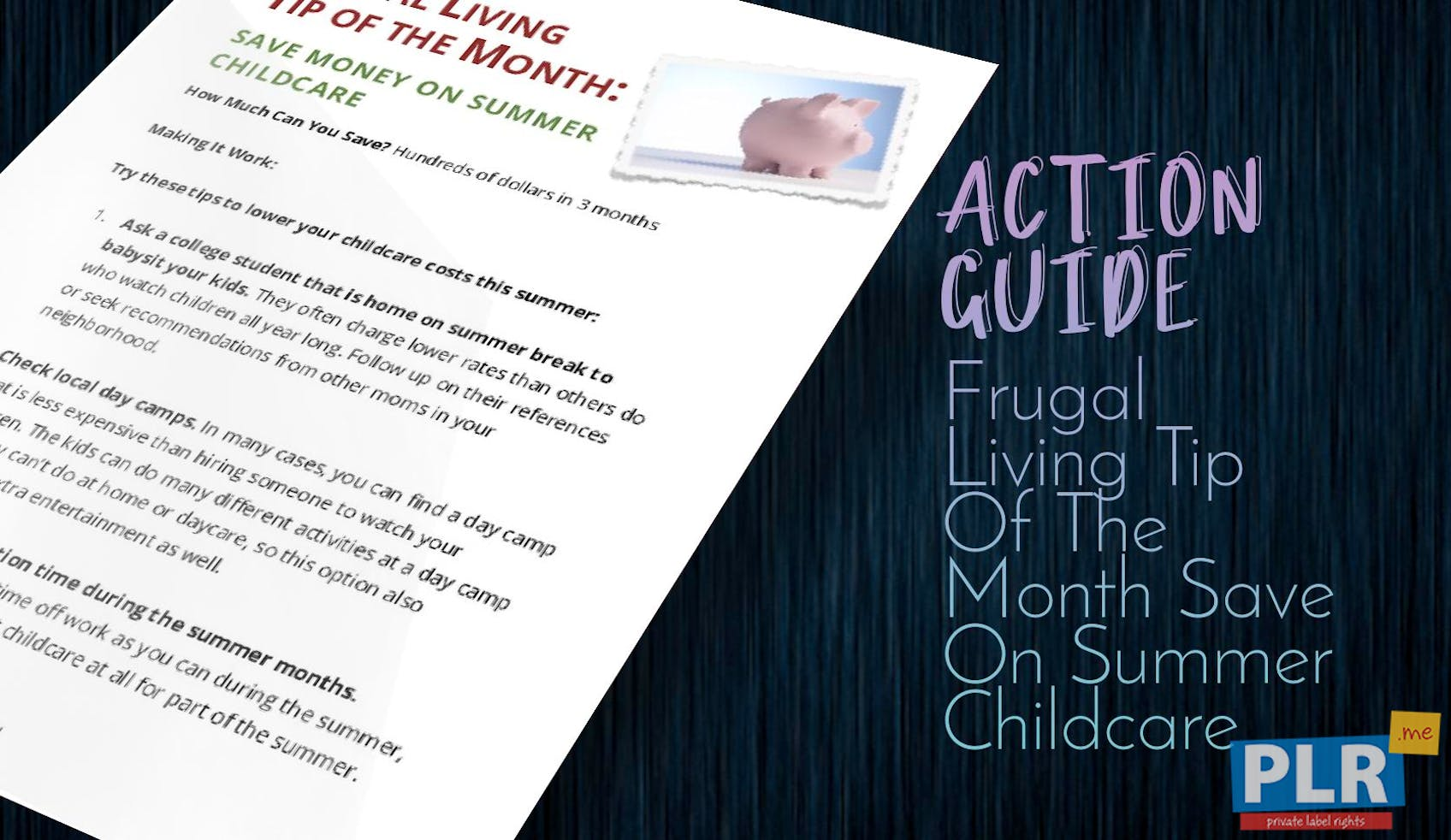 Frugal Living Tip Of The Month Save On Summer Childcare