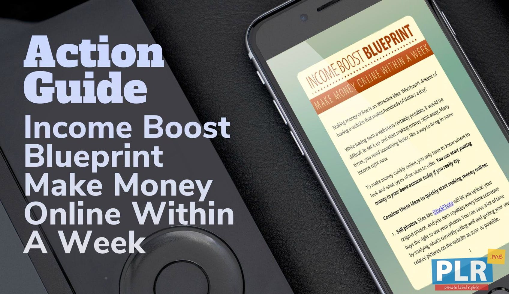 Plr action guides coaching handouts lead magnets income boost income boost blueprint make money online within a week malvernweather Choice Image