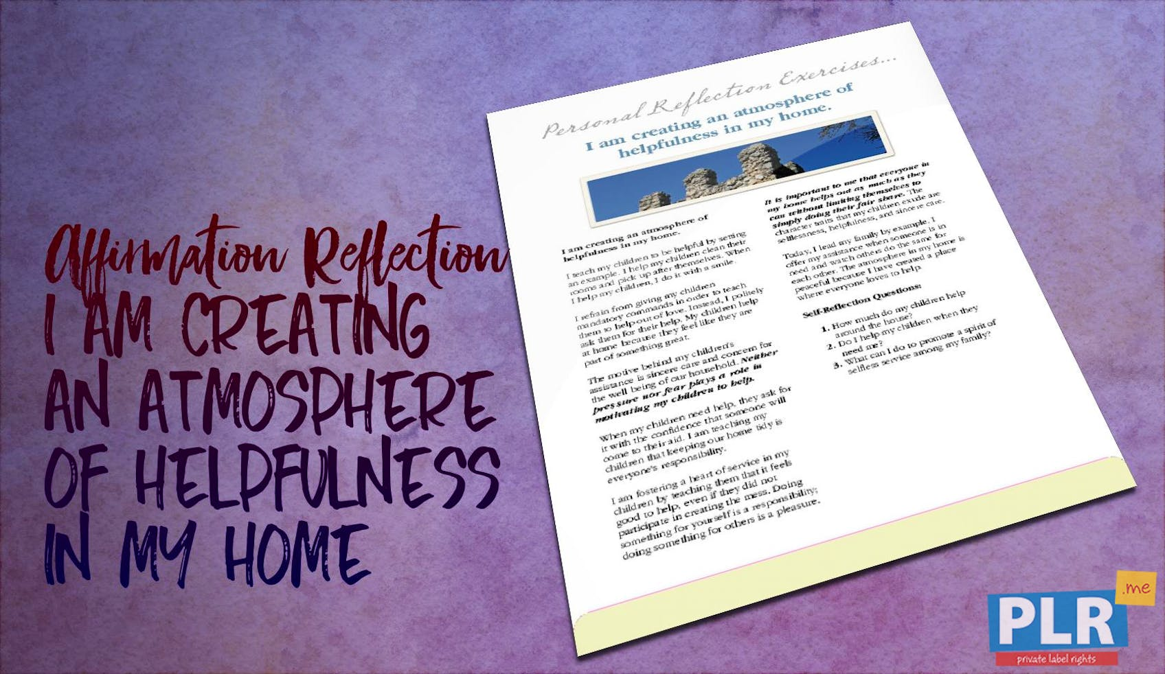 I Am Creating An Atmosphere Of Helpfulness In My Home
