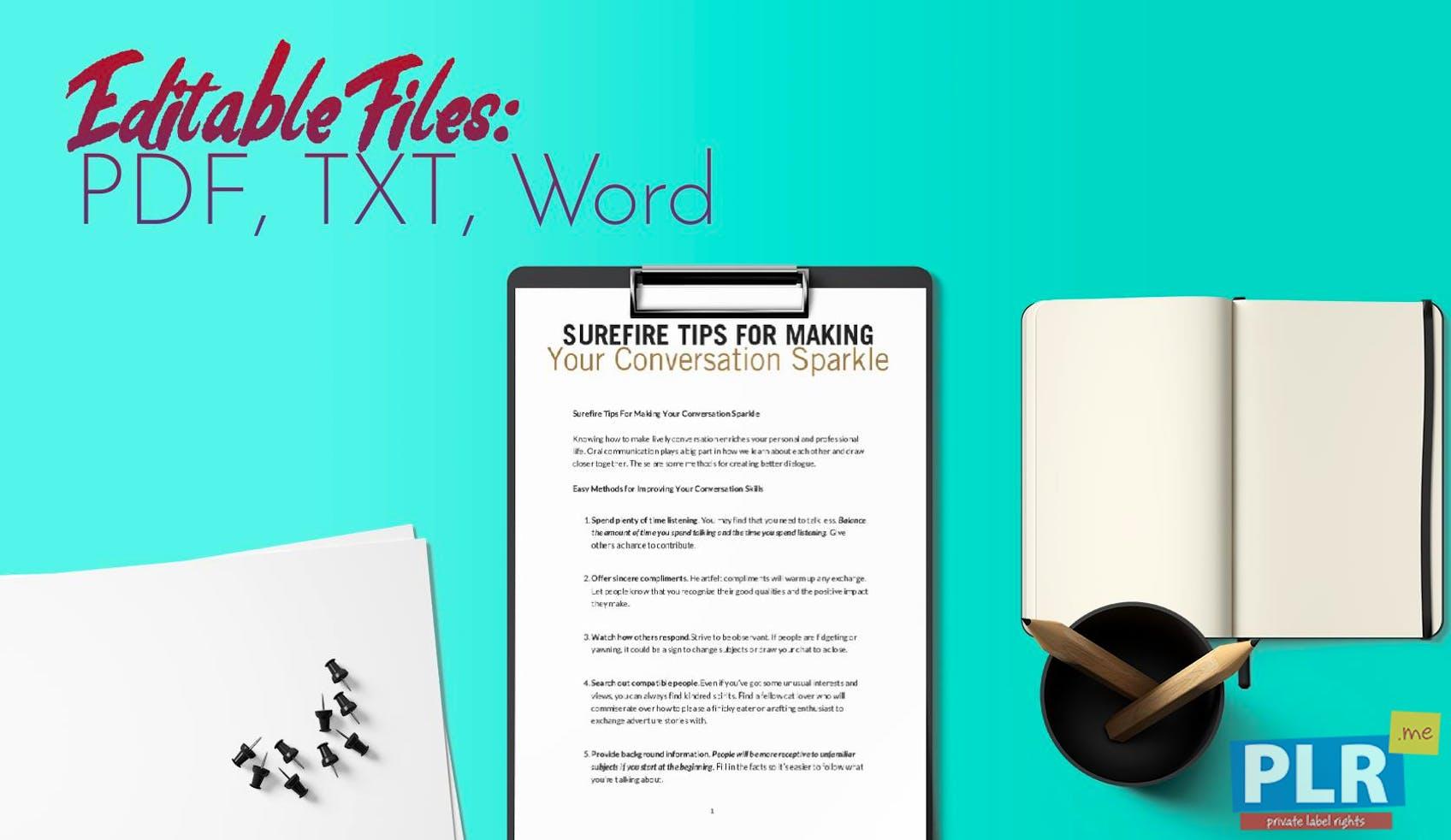 Surefire Tips For Making Your Conversation Sparkle