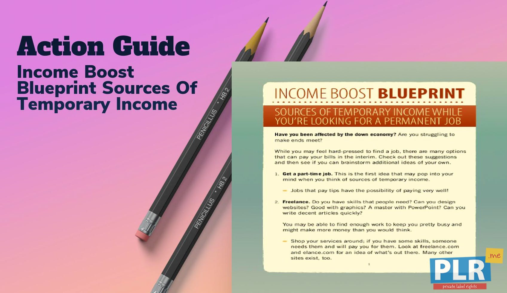Income Boost Blueprint Sources Of Temporary Income