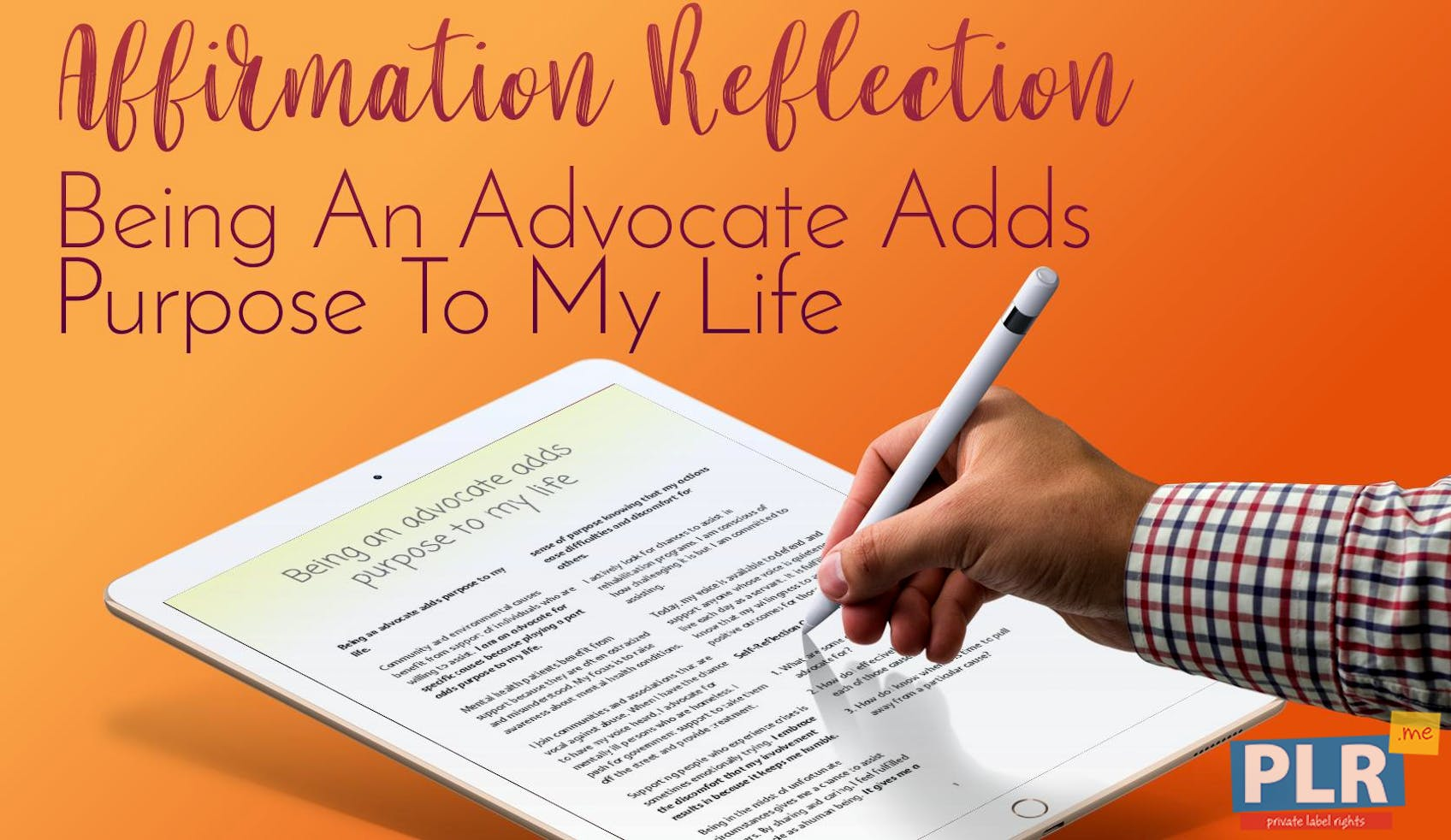 Being An Advocate Adds Purpose To My Life