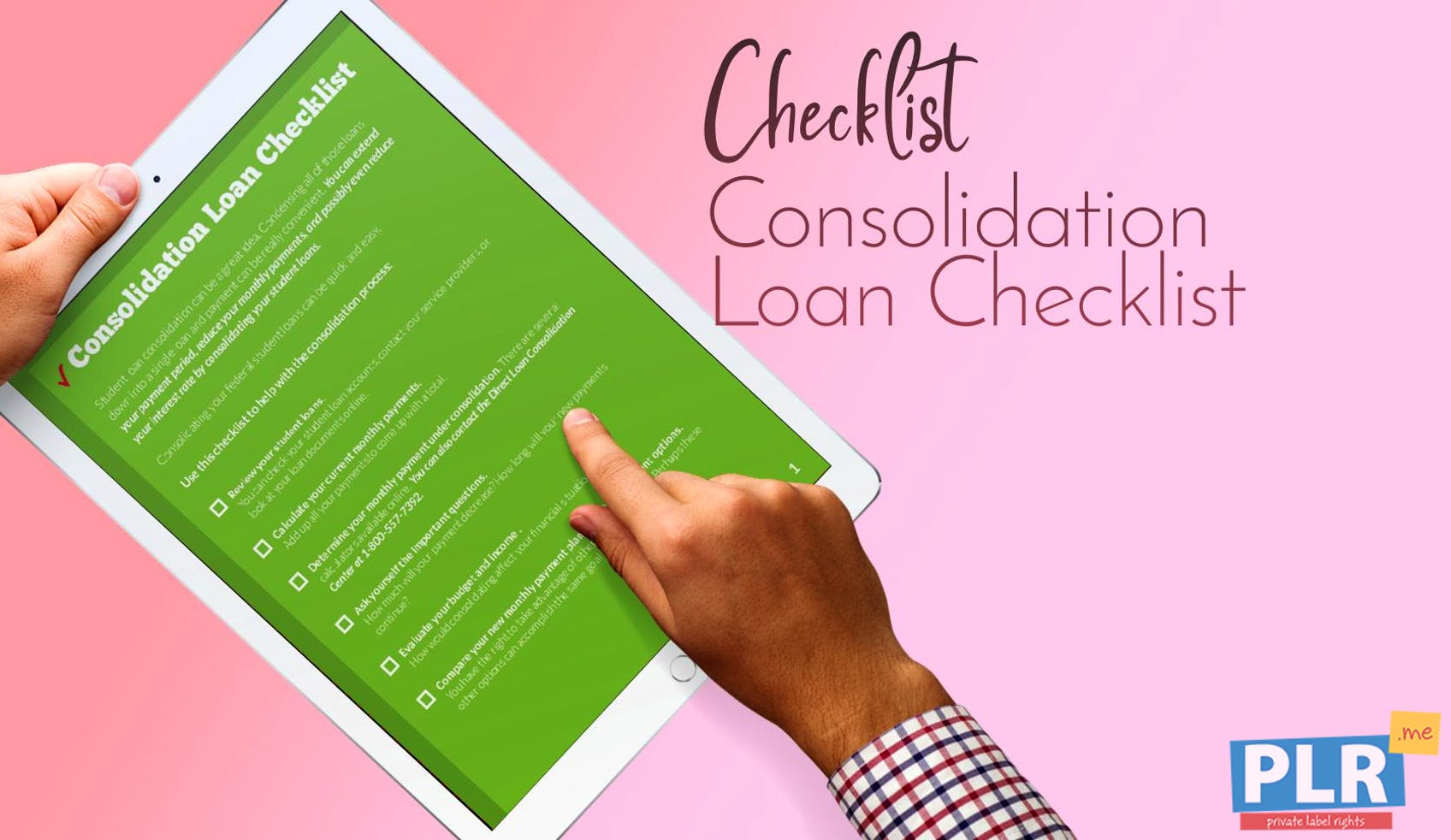 Consolidation Loan Checklist
