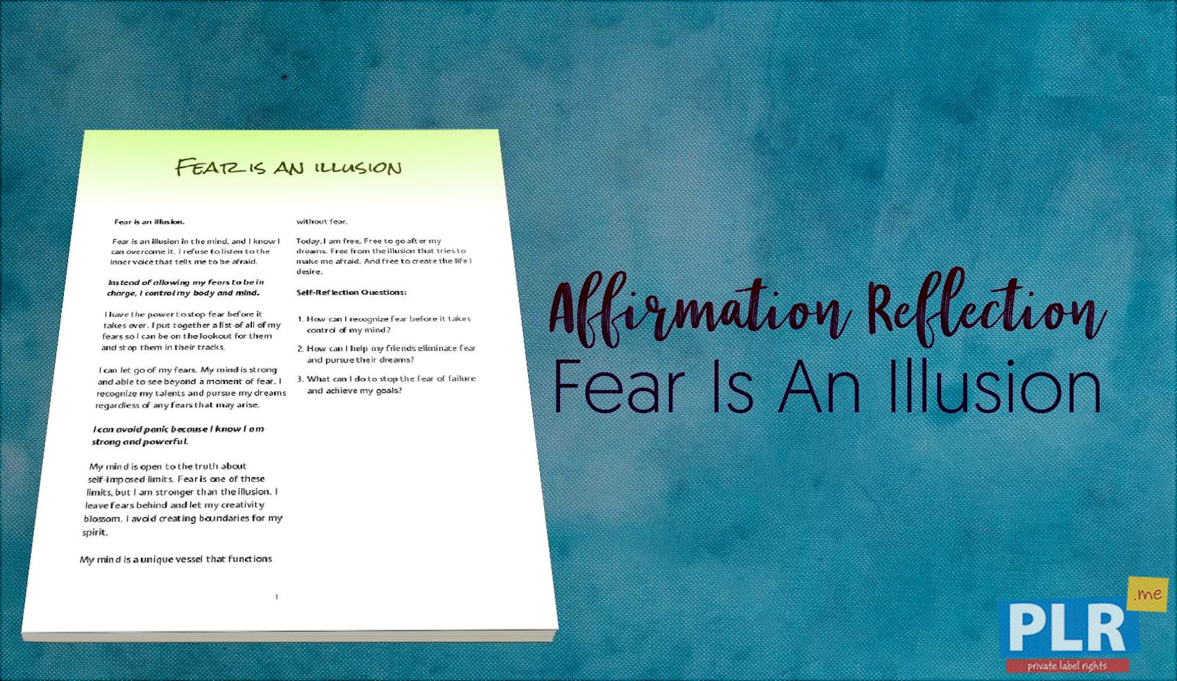 Fear Is An Illusion