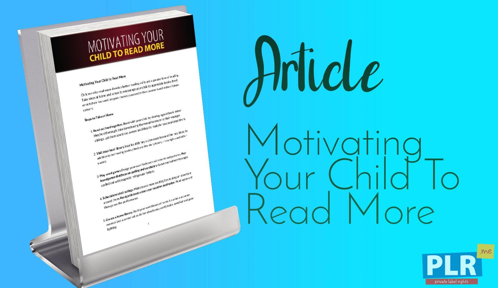 PLR Articles & Blog Posts - Motivating Your Child To Read More - PLR.me
