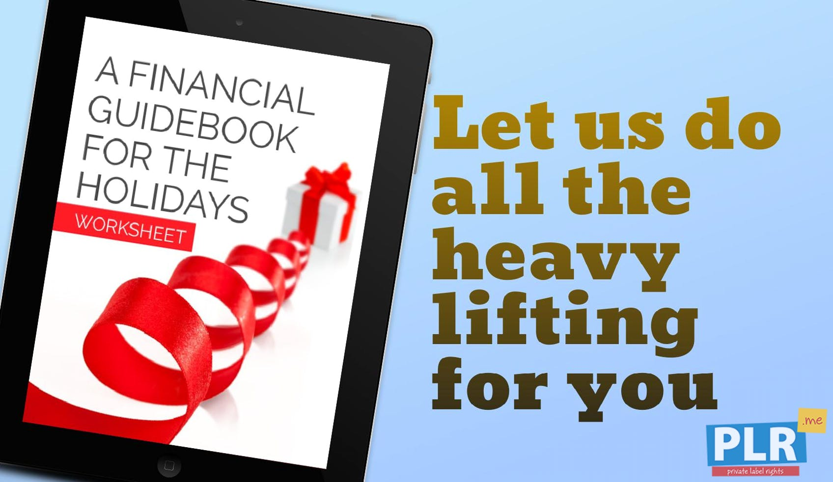 A Financial Guidebook For The Holidays Worksheet