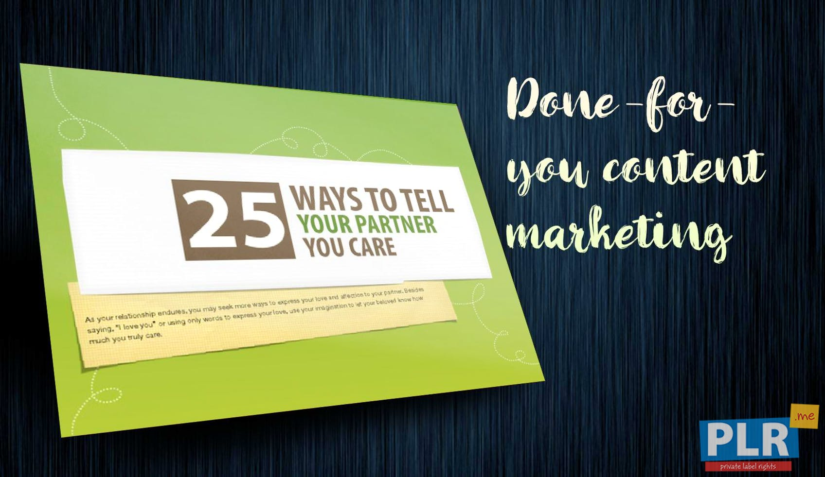 25 Ways To Tell Your Partner You Care