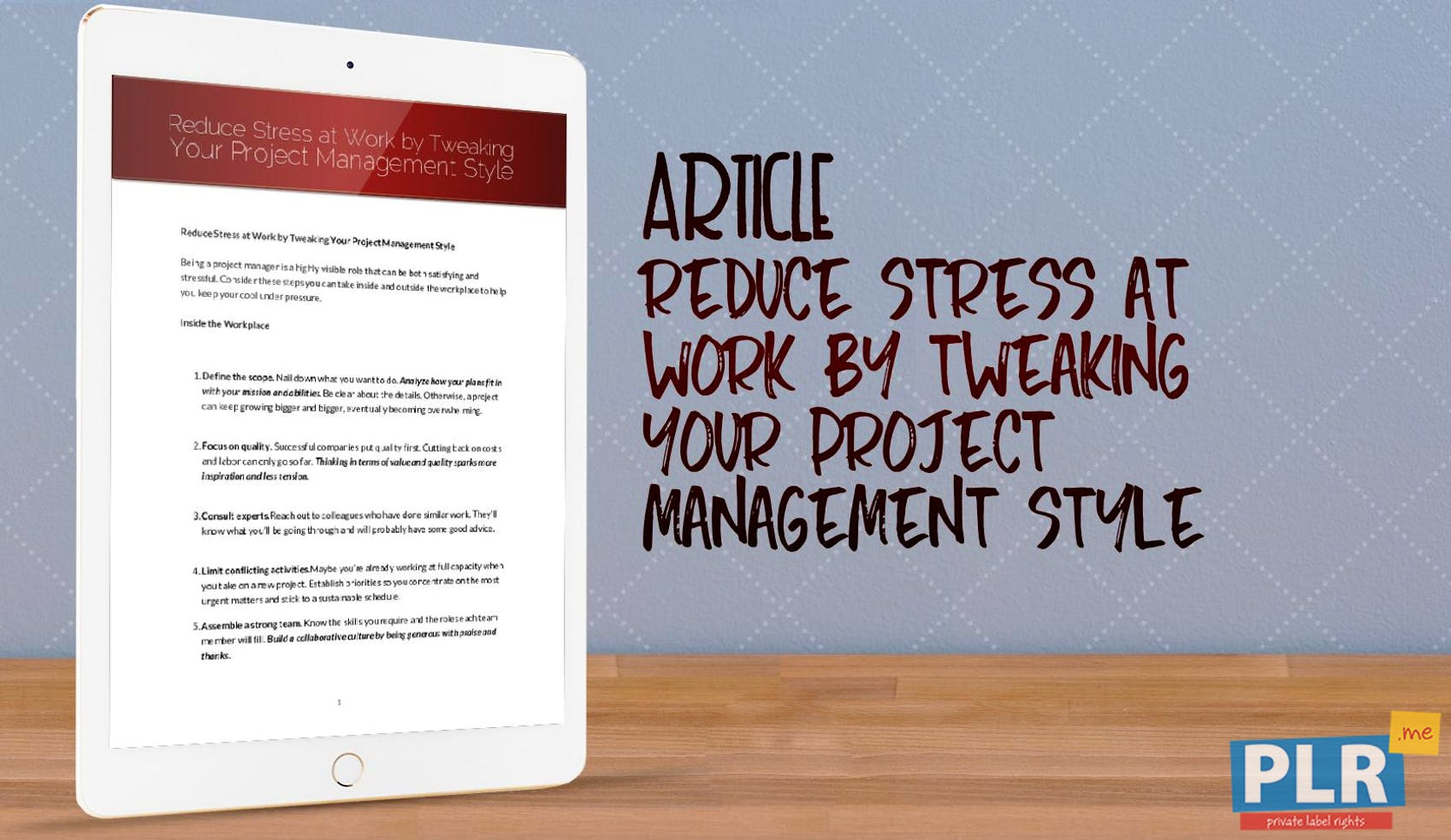 Reduce Stress At Work By Tweaking Your Project Management Style