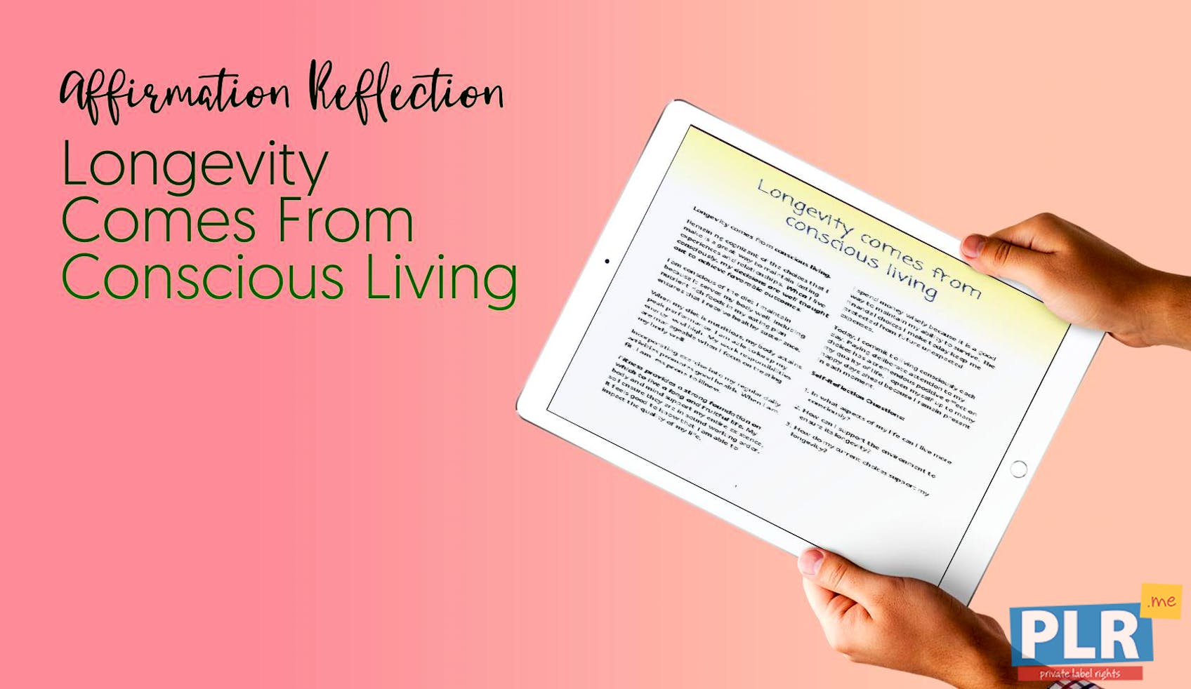Longevity Comes From Conscious Living