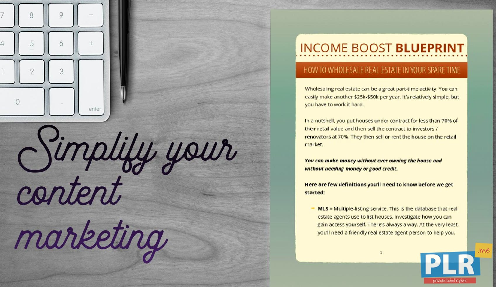Income Boost Blueprint How To Wholesale Real Estate In Your Spare Time