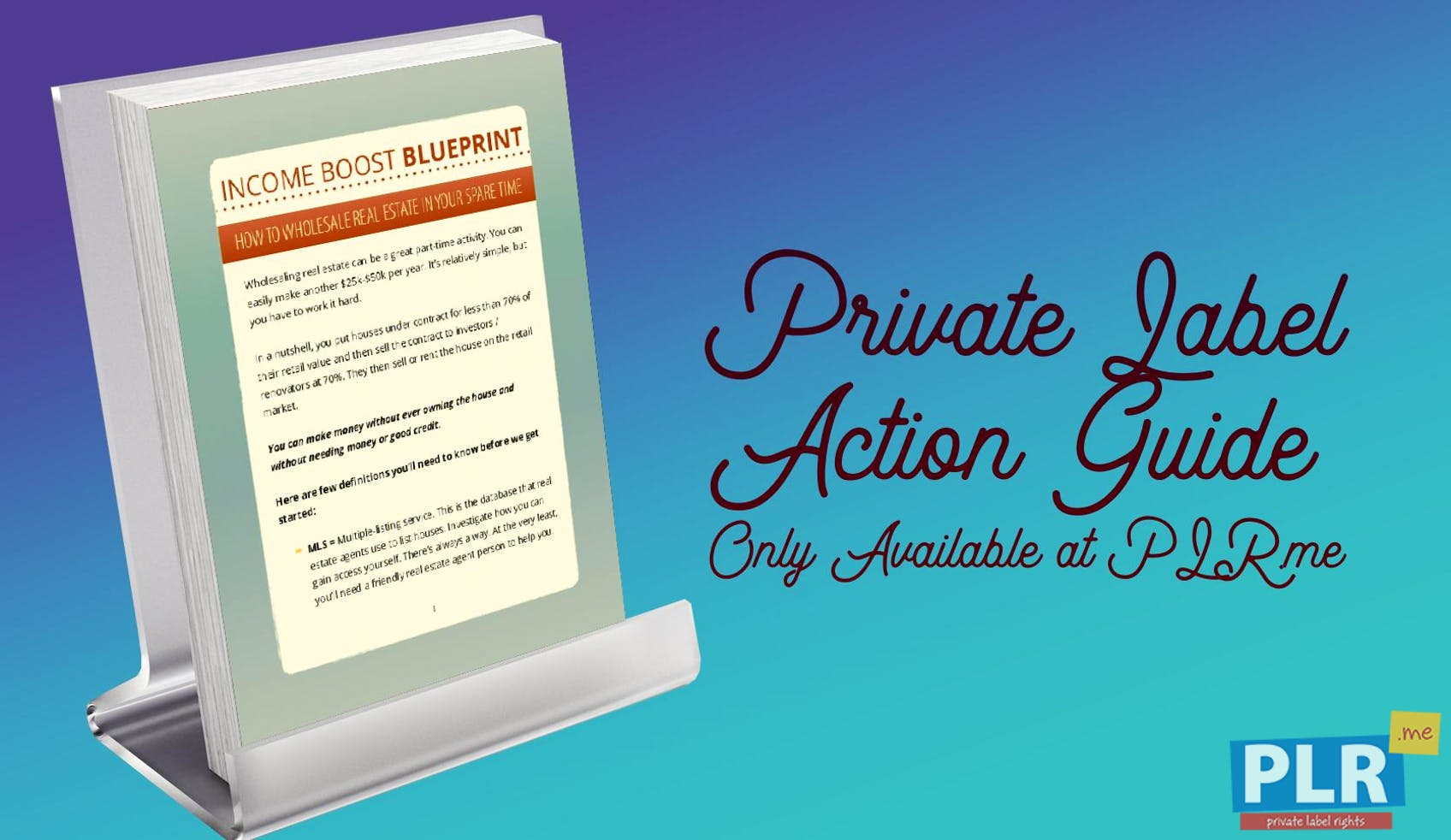 Private label action guides coaching handouts lead magnets income boost blueprint how to wholesale real estate in your spare time malvernweather Choice Image