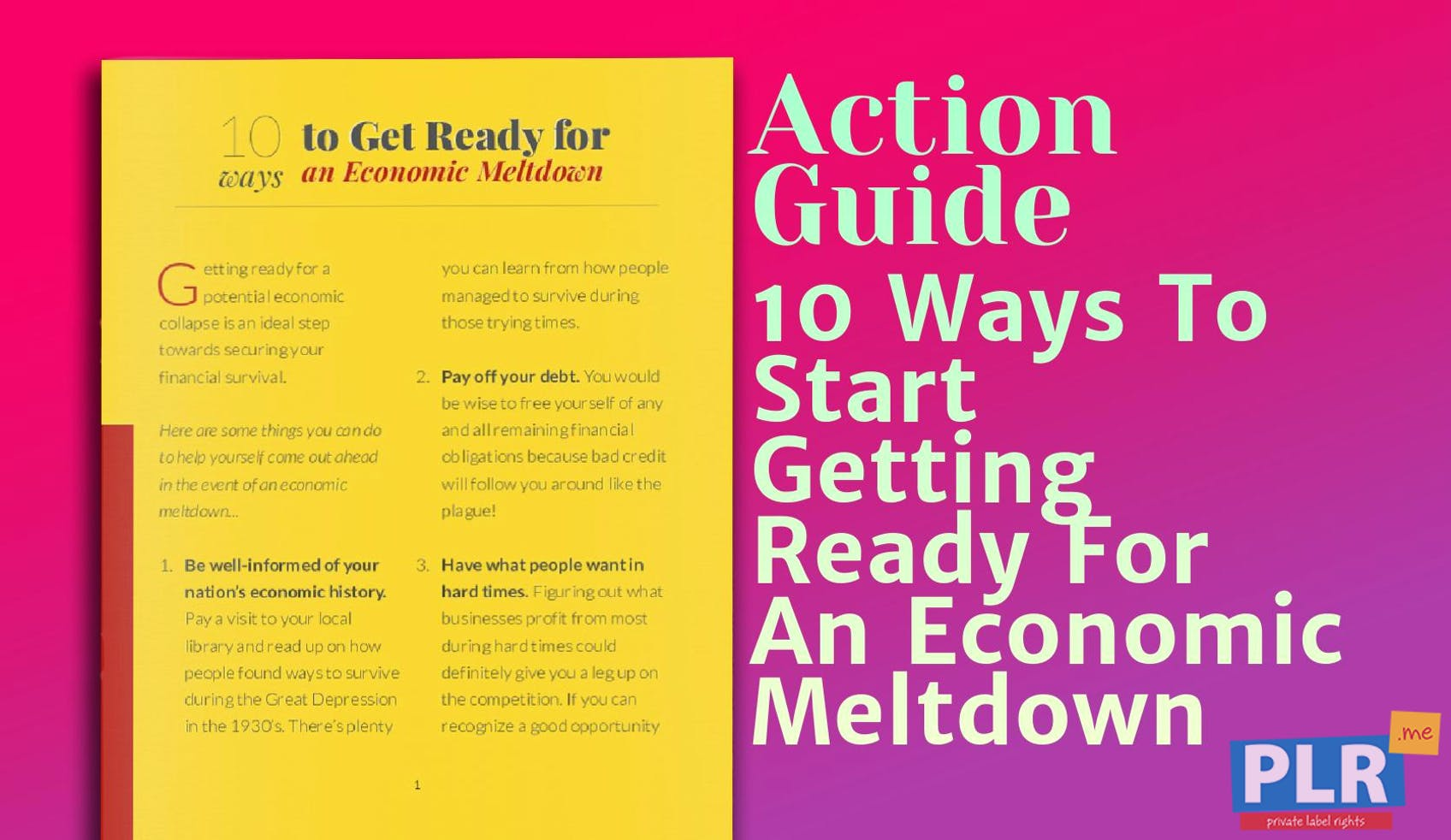 10 Ways To Start Getting Ready For An Economic Meltdown