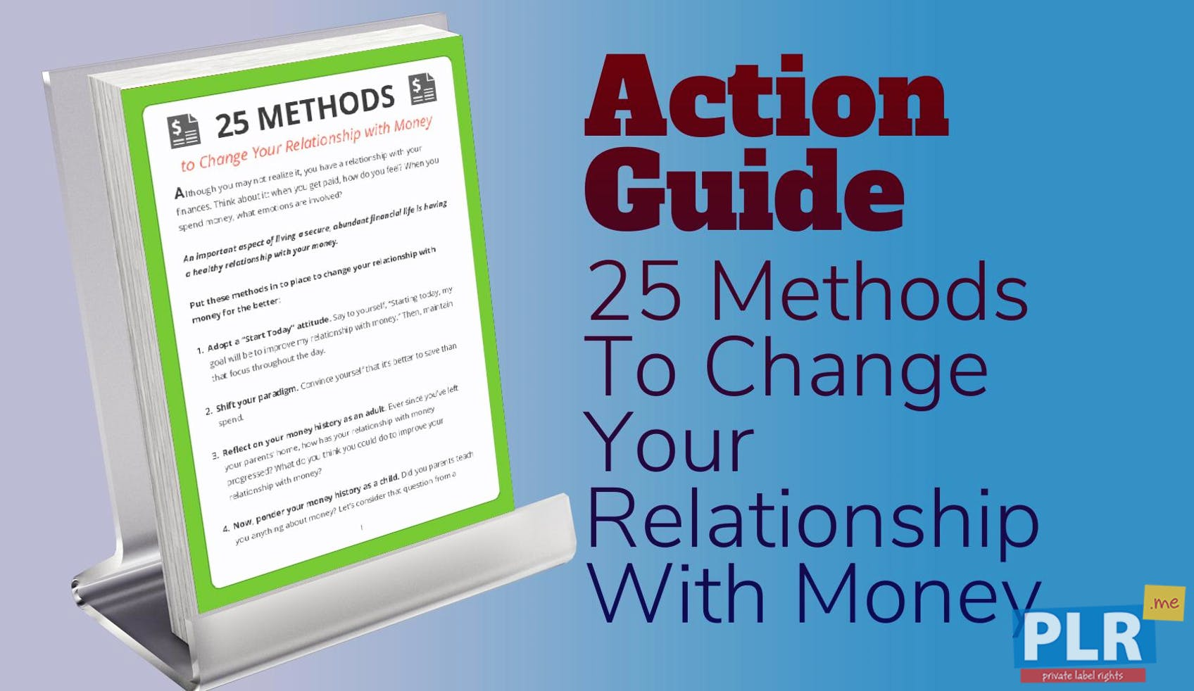 25 Methods To Change Your Relationship With Money