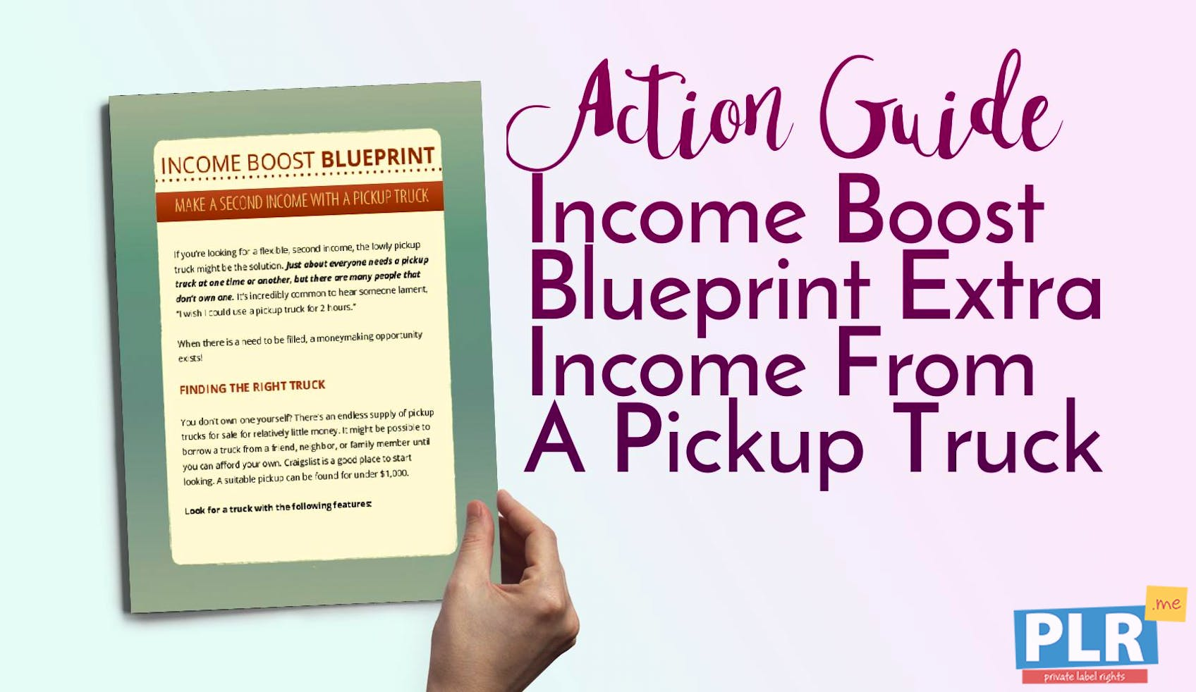 Income Boost Blueprint Extra Income From A Pickup Truck