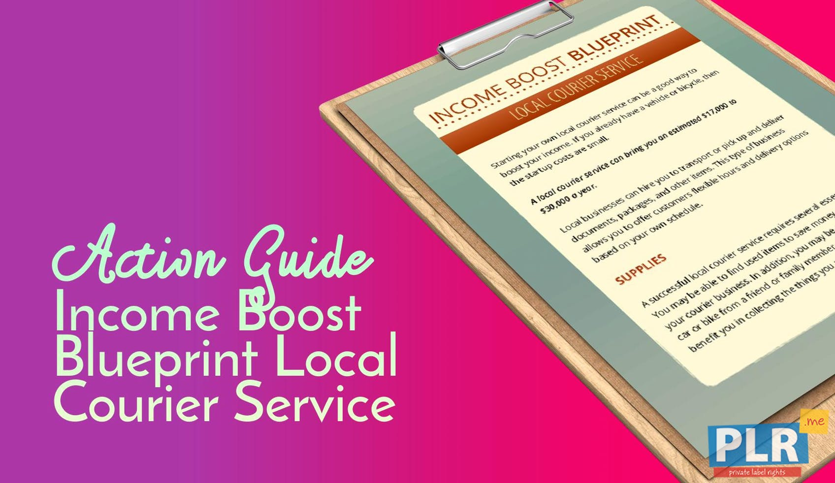 Income Boost Blueprint Local Courier Service