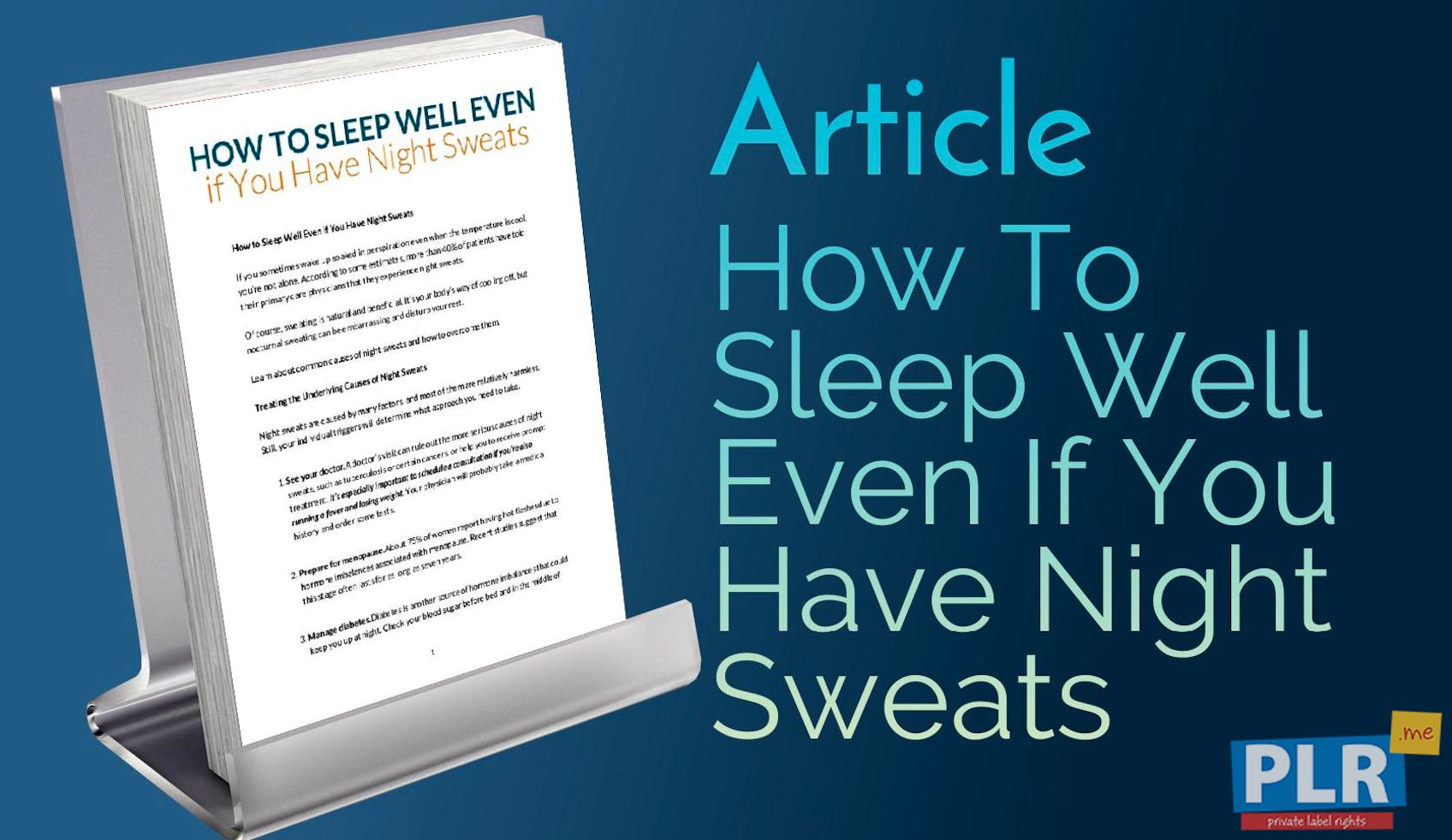 How To Sleep Well Even If You Have Night Sweats