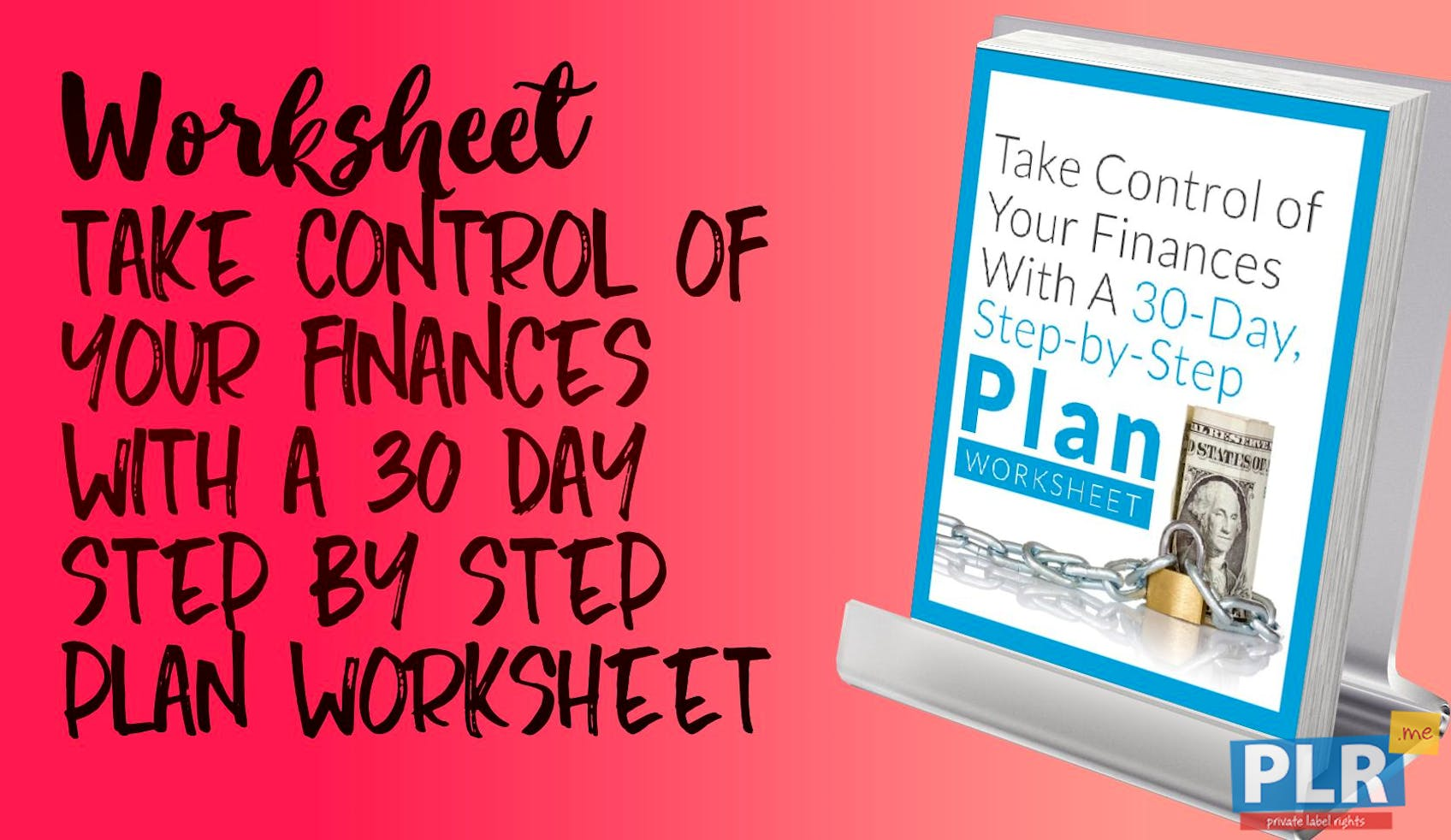 Take Control Of Your Finances With A 30 Day Step By Step Plan Worksheet