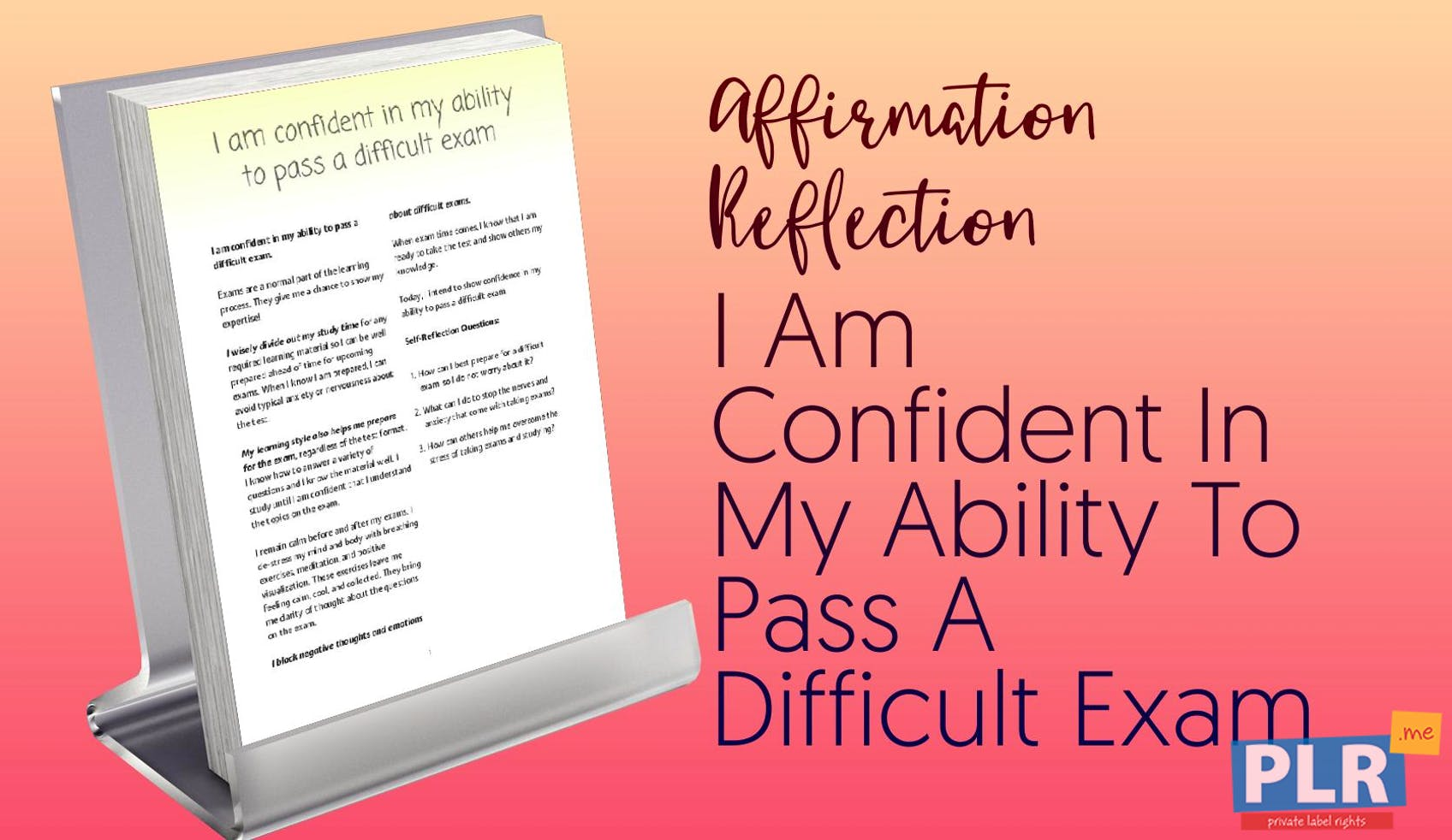 Plr affirmation reflections i am confident in my ability to pass a i am confident in my ability to pass a difficult exam altavistaventures Gallery