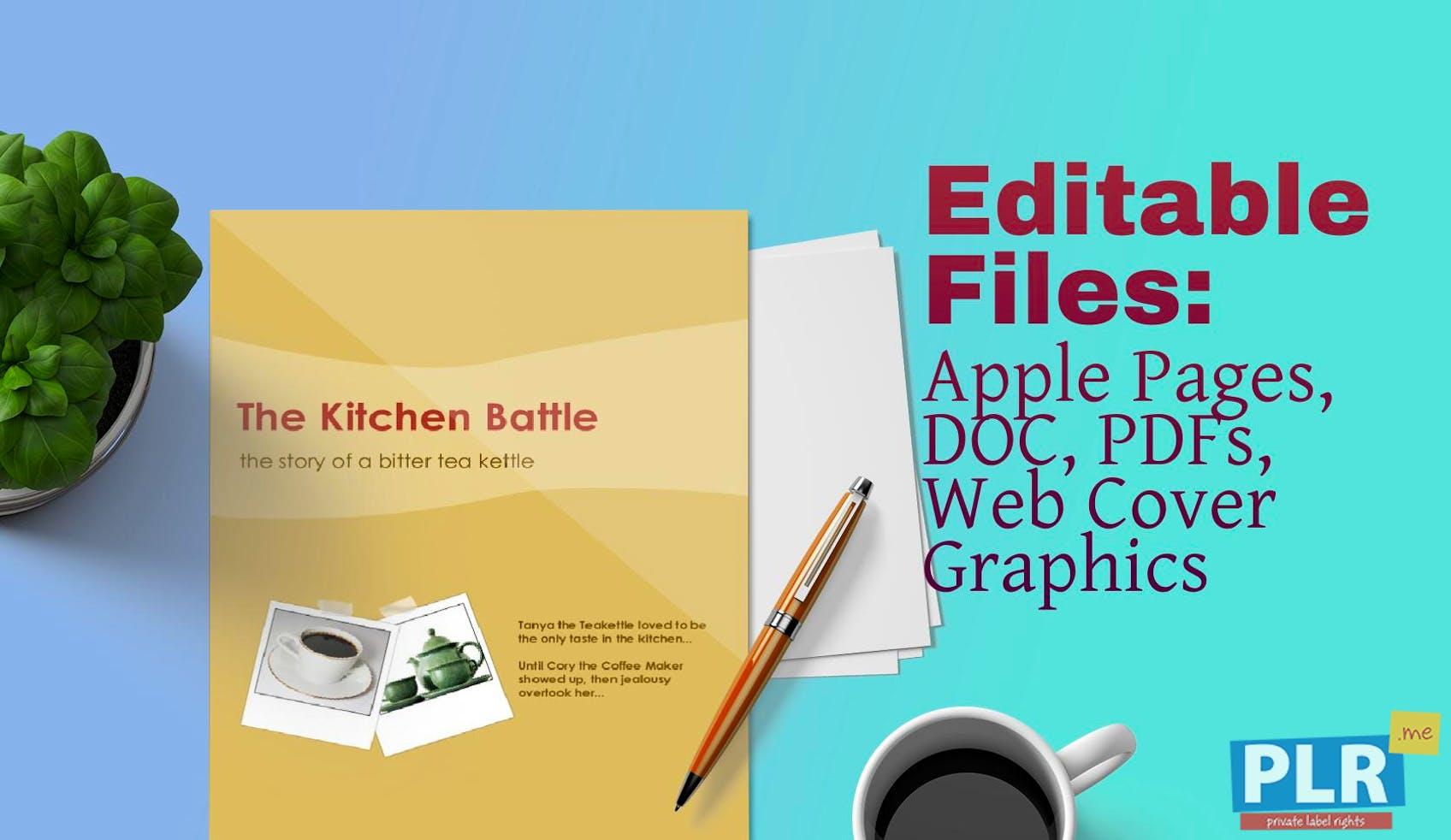 PLR Fables & Short Stories - The Kitchen Battle Fable - PLR.me