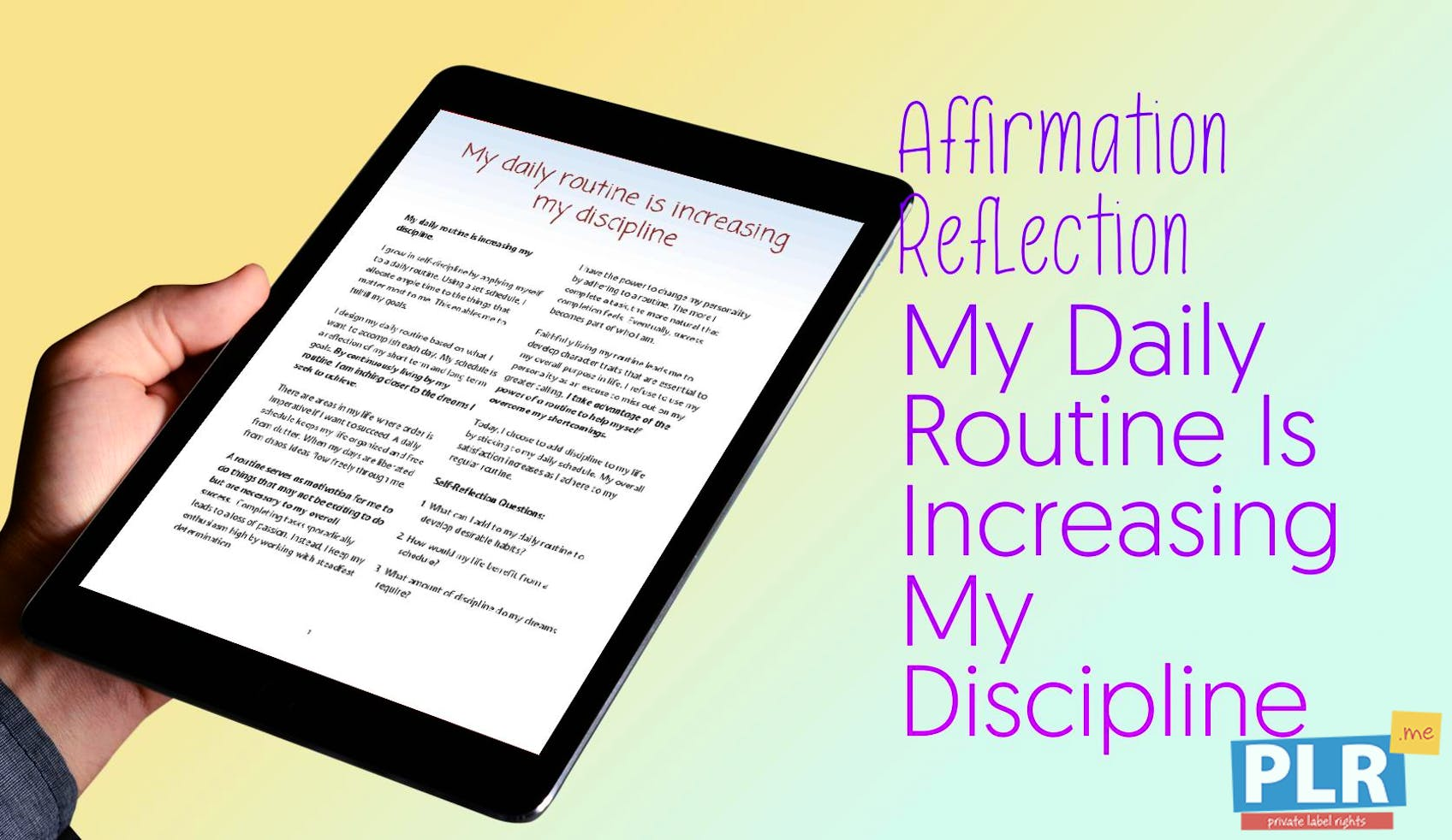 My Daily Routine Is Increasing My Discipline