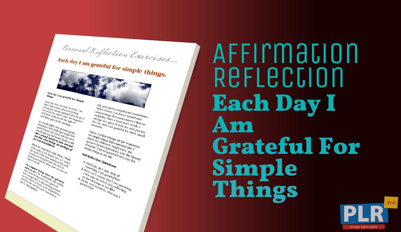 Each Day I Am Grateful For Simple Things