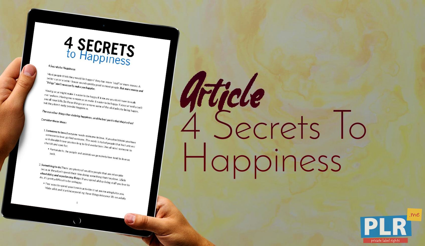 Most Blog Posts These Days Are Pretty >> Plr Articles Blog Posts 4 Secrets To Happiness Plr Me
