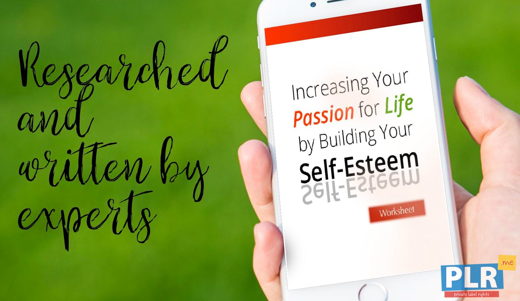 Increasing Your Passion For Life By Building Your Self Esteem Worksheet