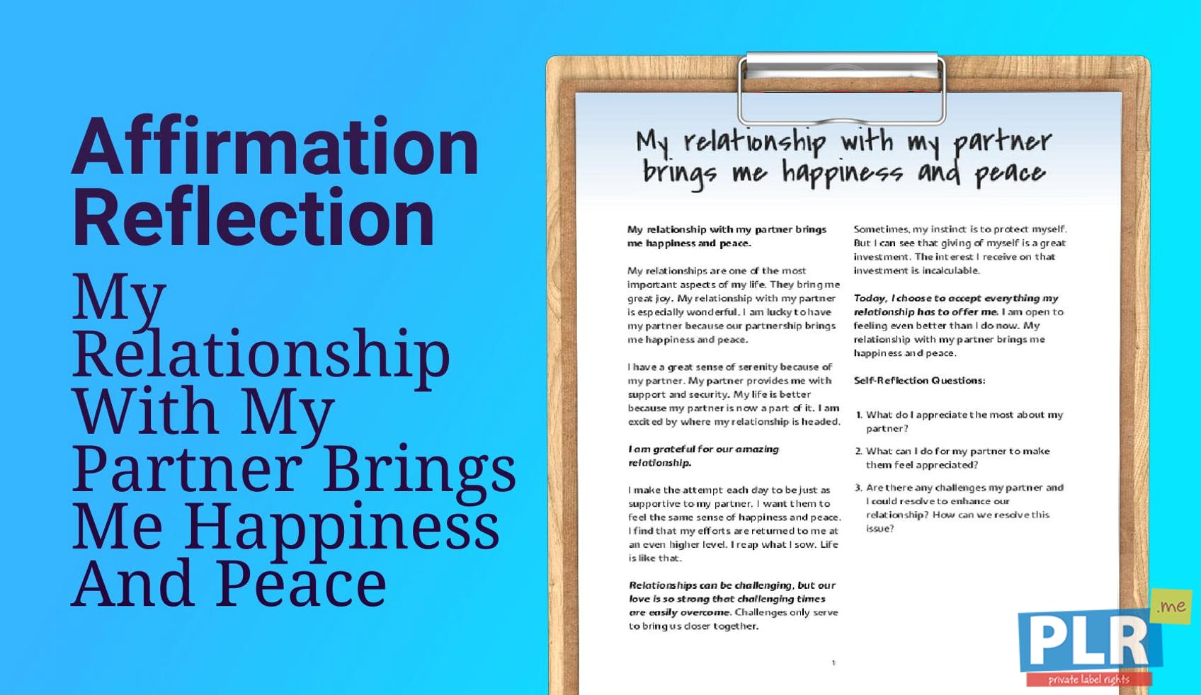 My Relationship With My Partner Brings Me Happiness And Peace