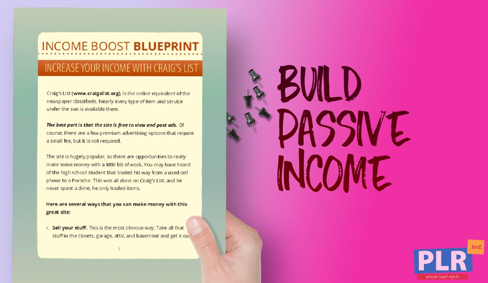 Income Boost Blueprint Increase Your Income With Craigs List