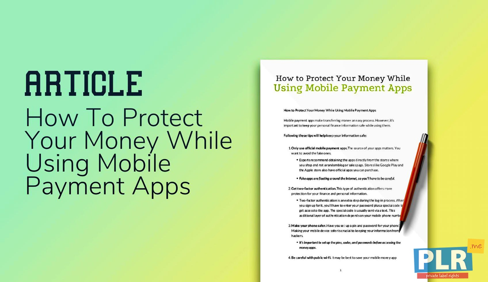 How To Protect Your Money While Using Mobile Payment Apps