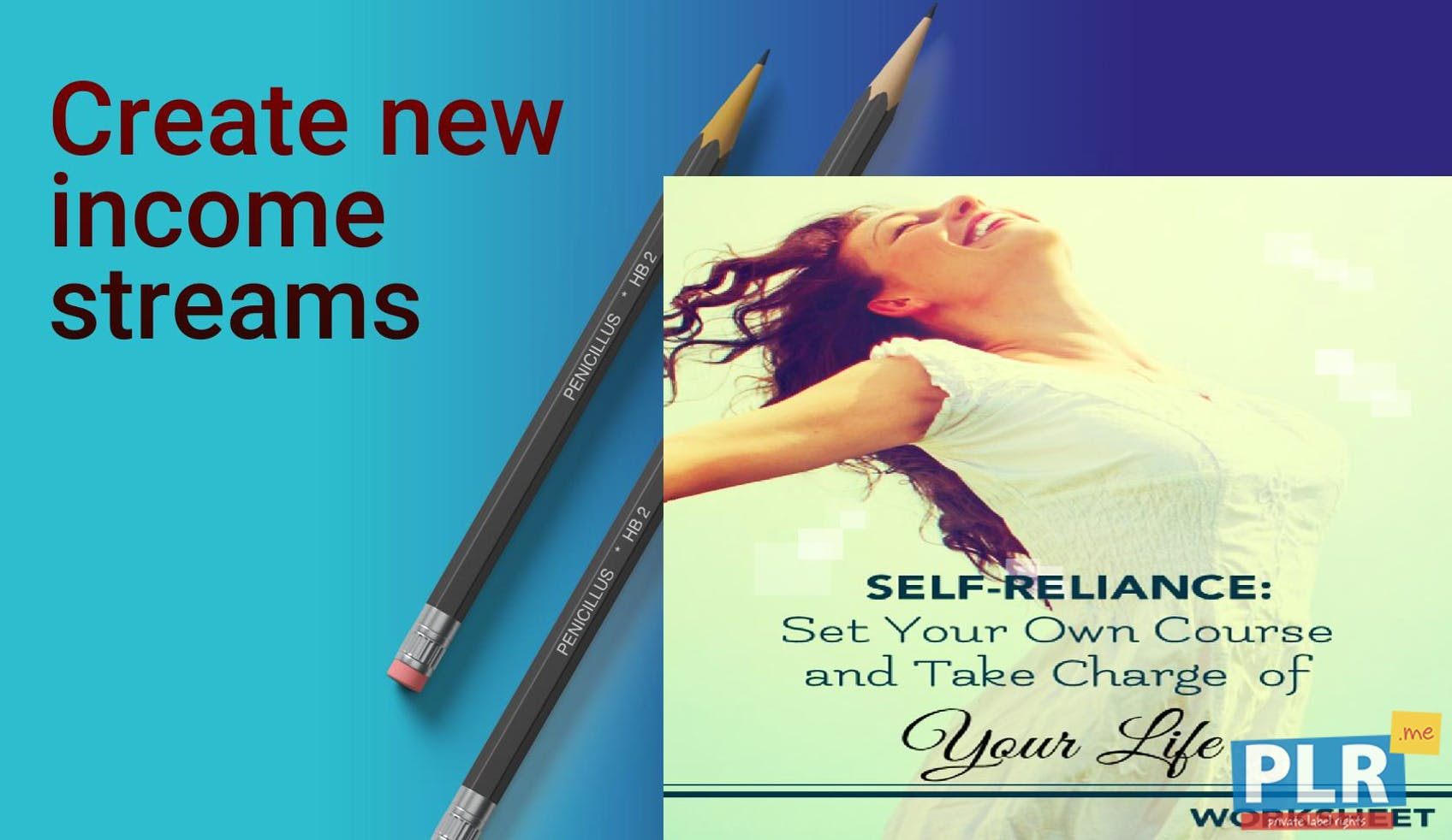PLR Worksheets - Self Reliance Set Your Own Course And Take Charge ...