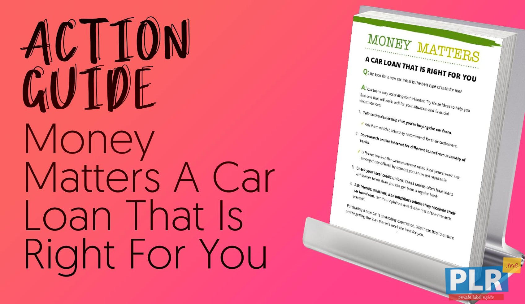 Money Matters A Car Loan That Is Right For You