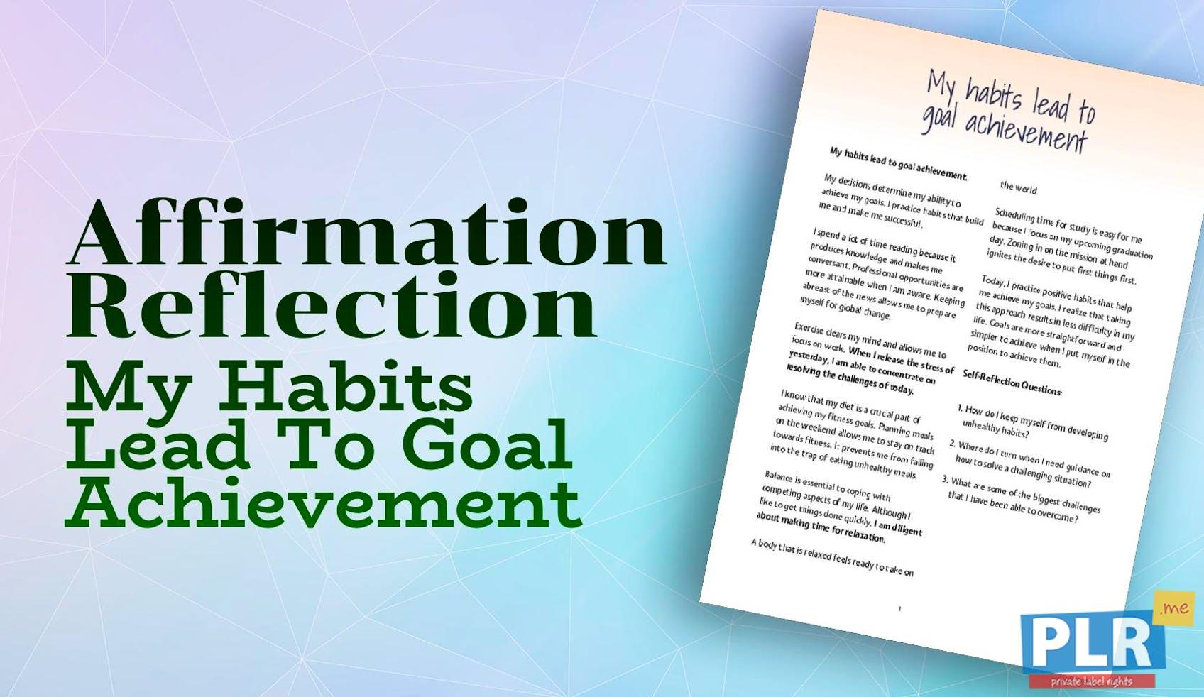 PLR Affirmation Reflections