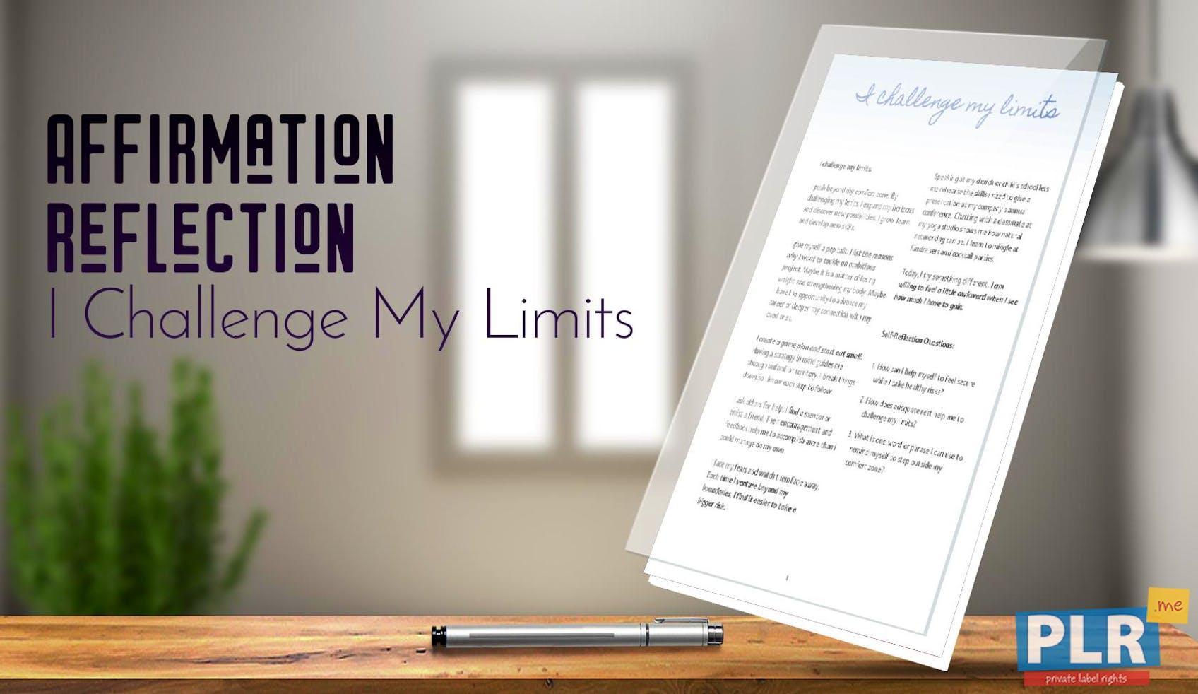 I Challenge My Limits