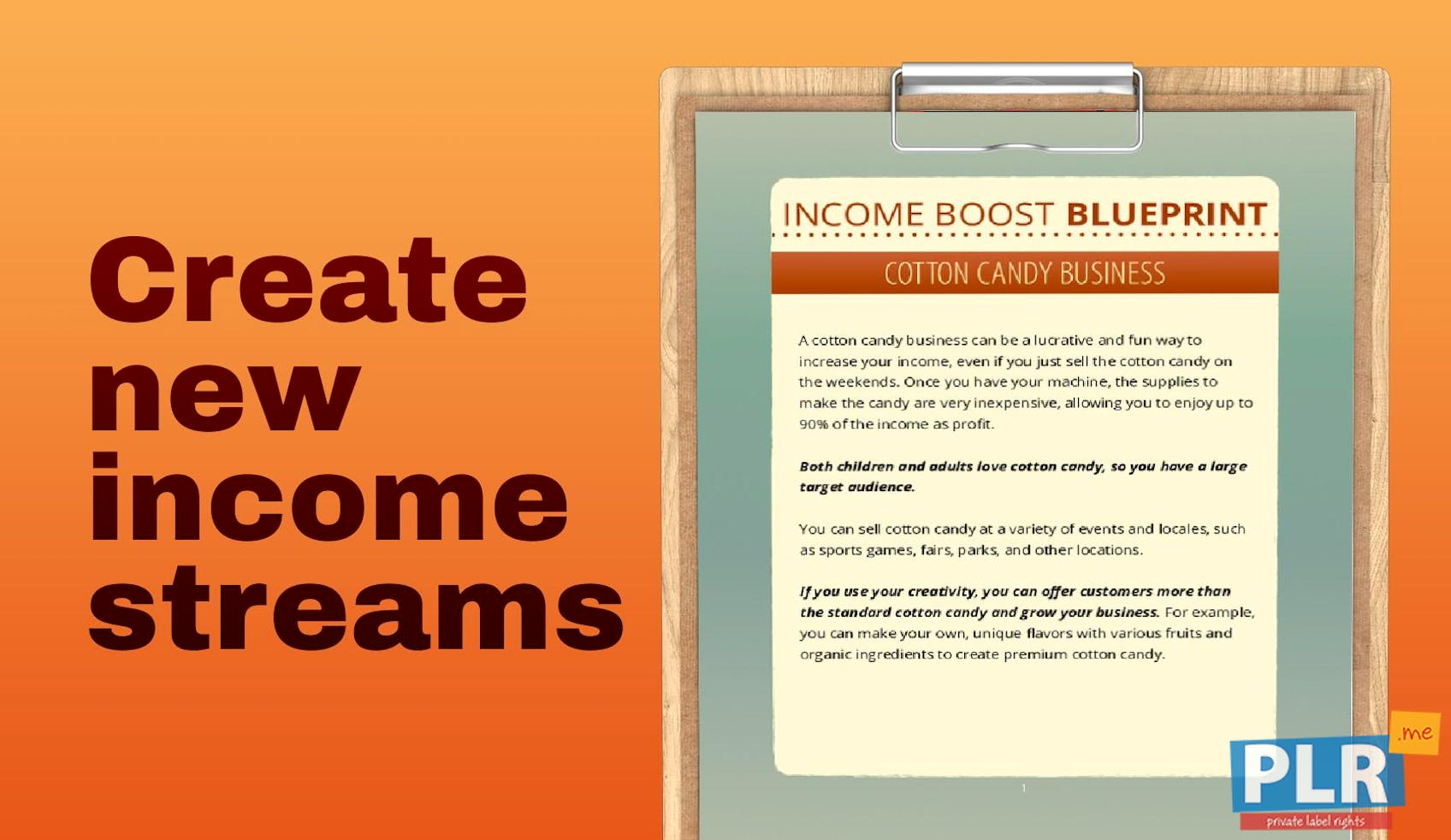 Income Boost Blueprint Cotton Candy Business