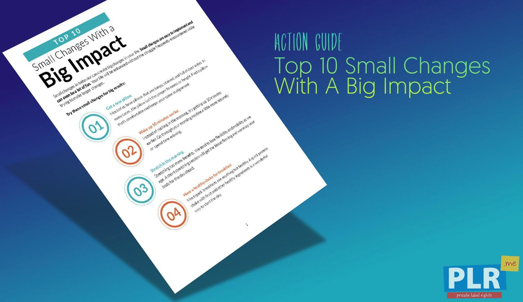 Top 10 Small Changes With A Big Impact