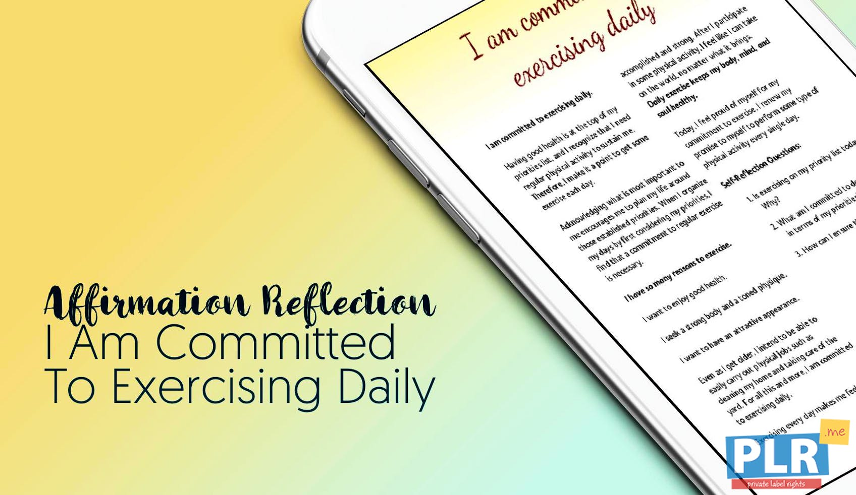 I Am Committed To Exercising Daily