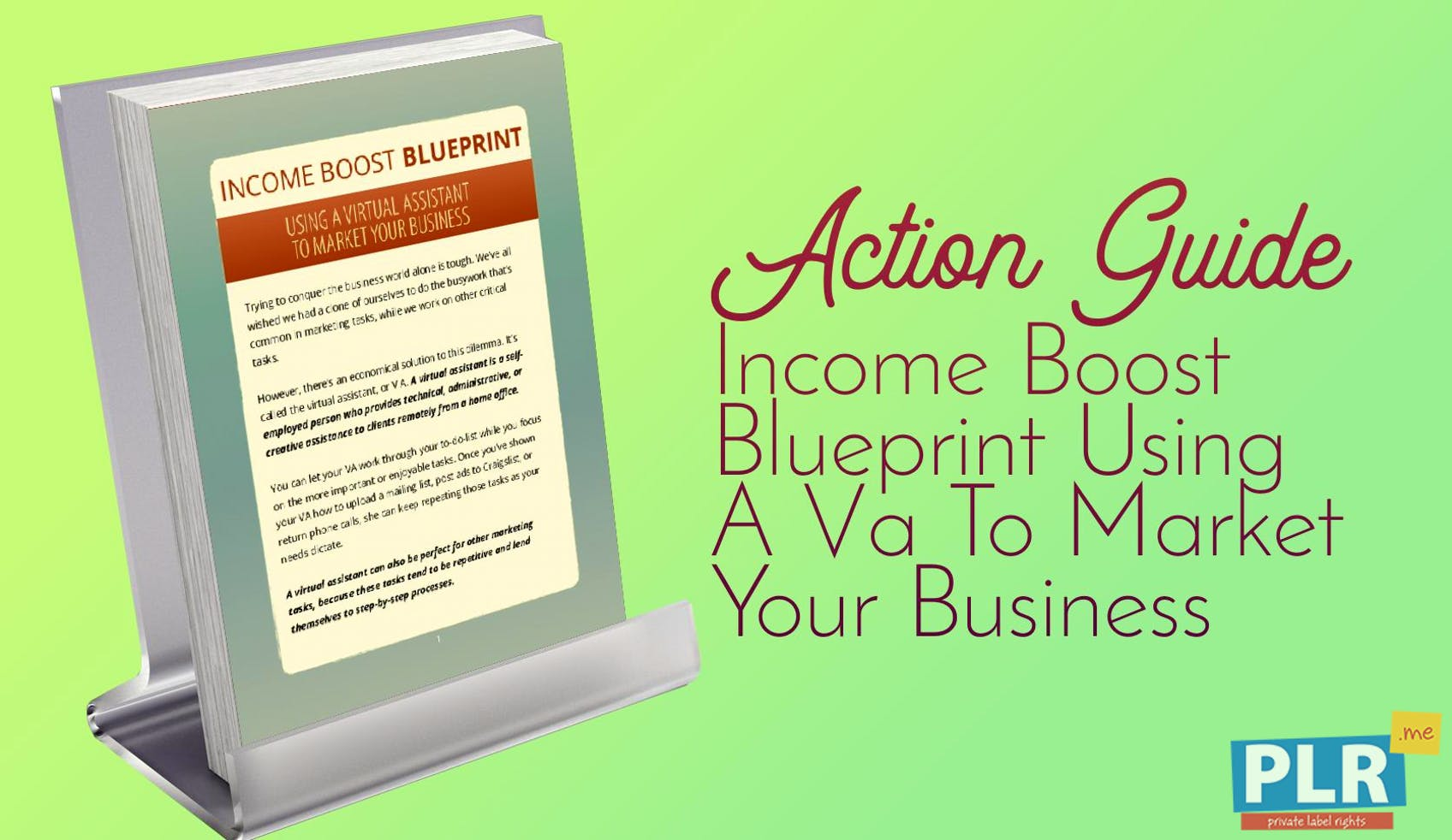 Plr action guides coaching handouts lead magnets income boost income boost blueprint using a va to market your business malvernweather Image collections